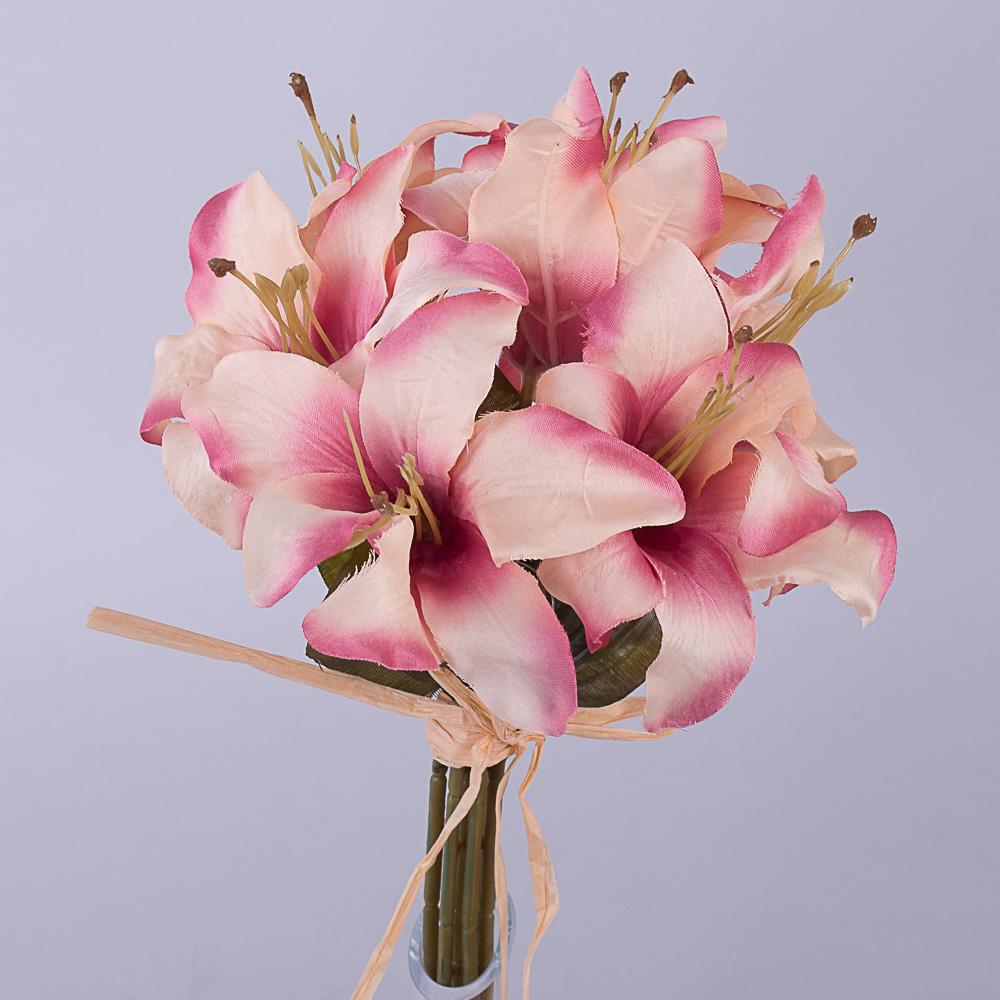 Букет лилий розово-фиолетовый