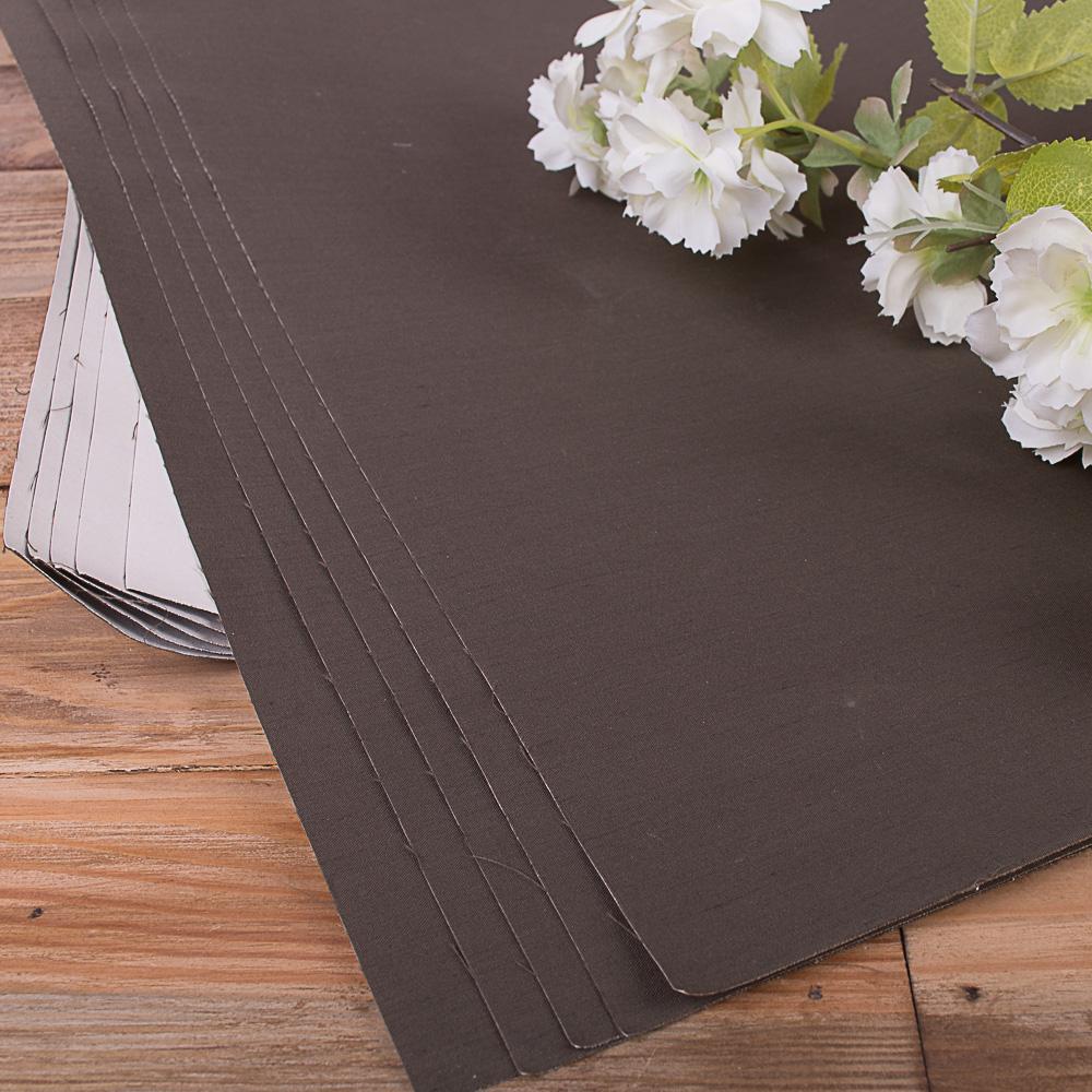 папір прогумований фактурний з тисненням (темно коричневий)