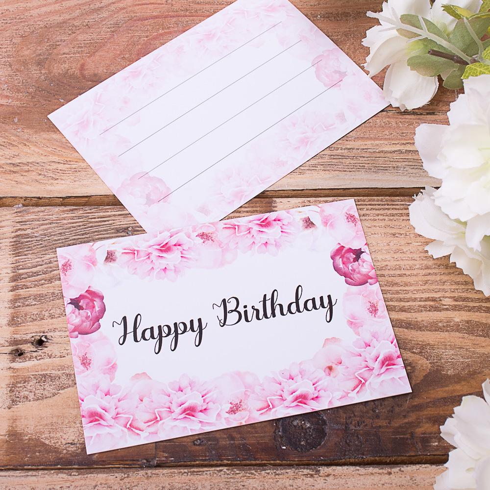 """листівка міні """"happy birthday"""""""