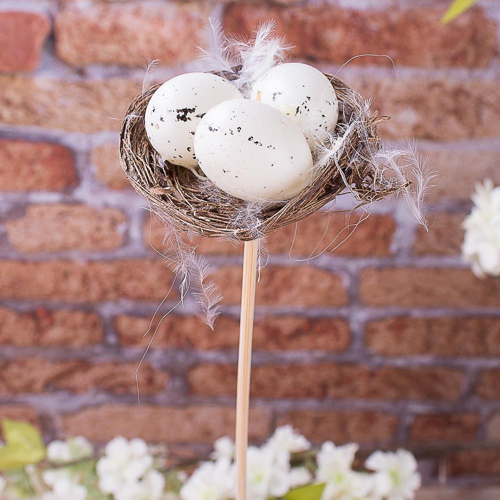 Яйца декоративные в гнезде на палочке
