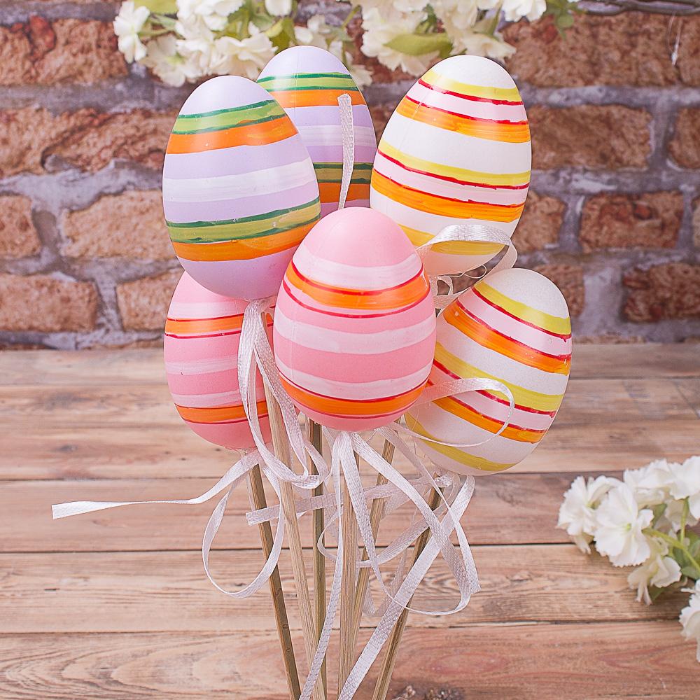 яйца на палочке микс в полоску (6шт)