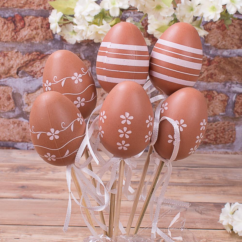 яйца на палочке микс коричневые  (6шт)