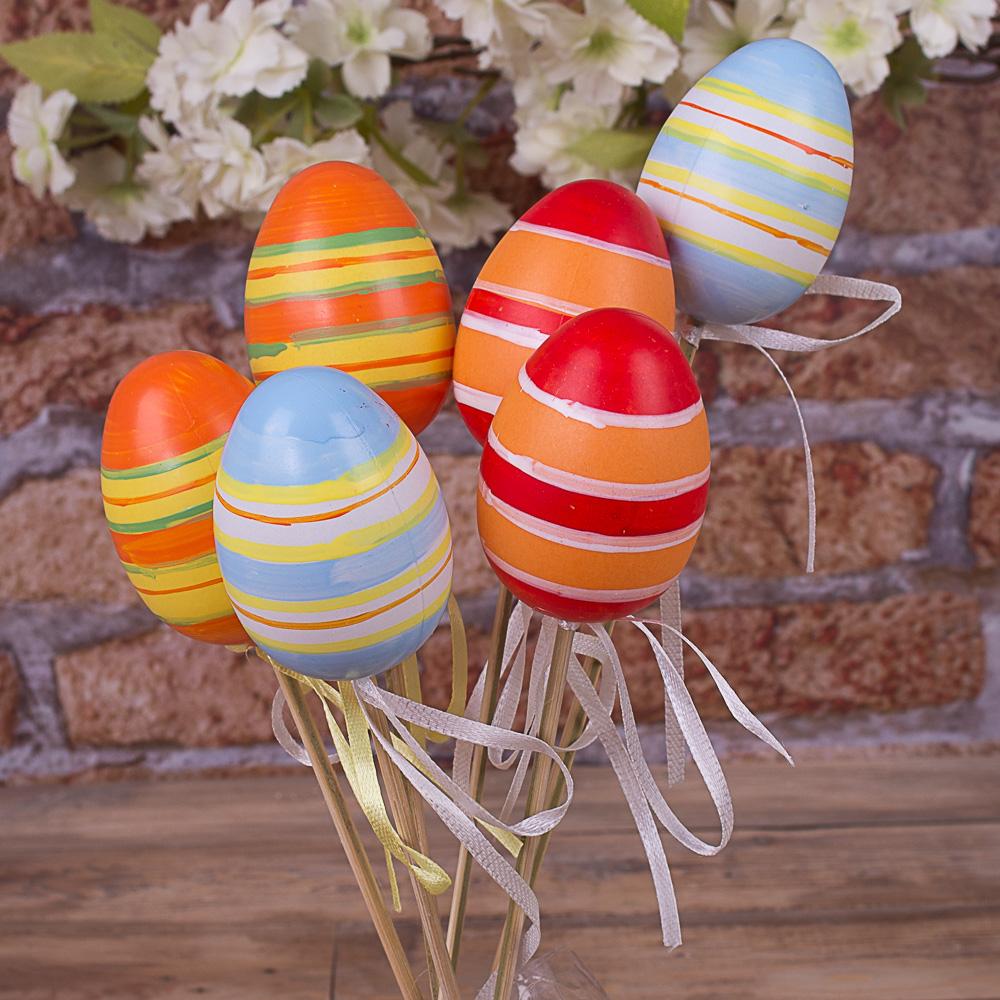 яйца на палочке микс полосочки (6шт)