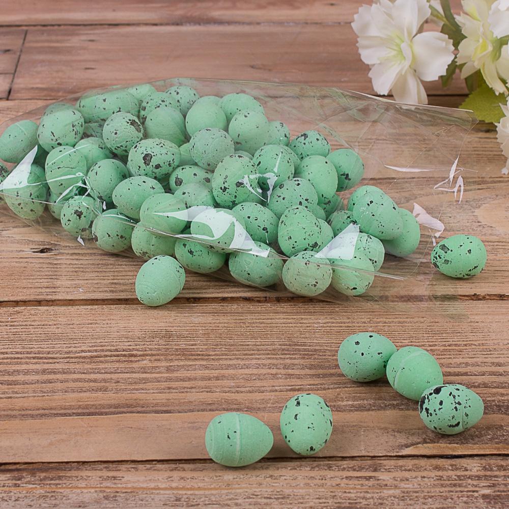"""Яйца декоративные """"супер-мини"""" зеленые"""