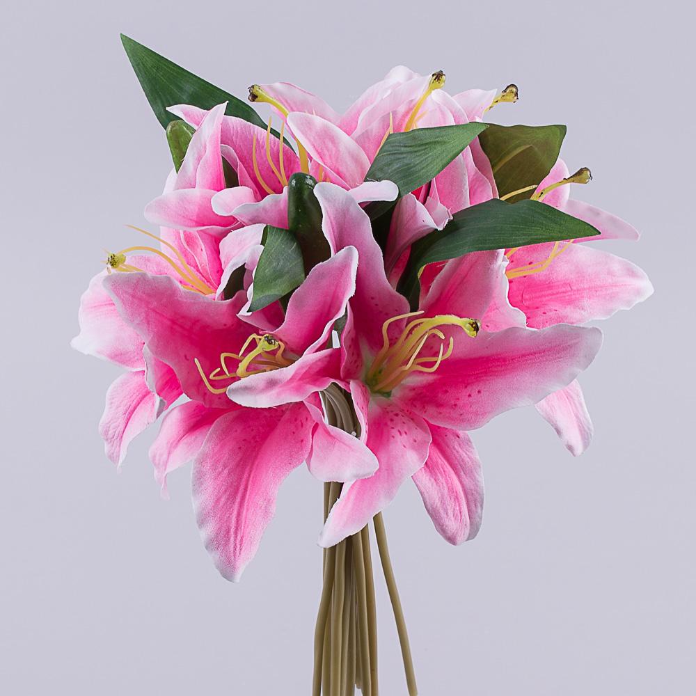 букет лилии розовый