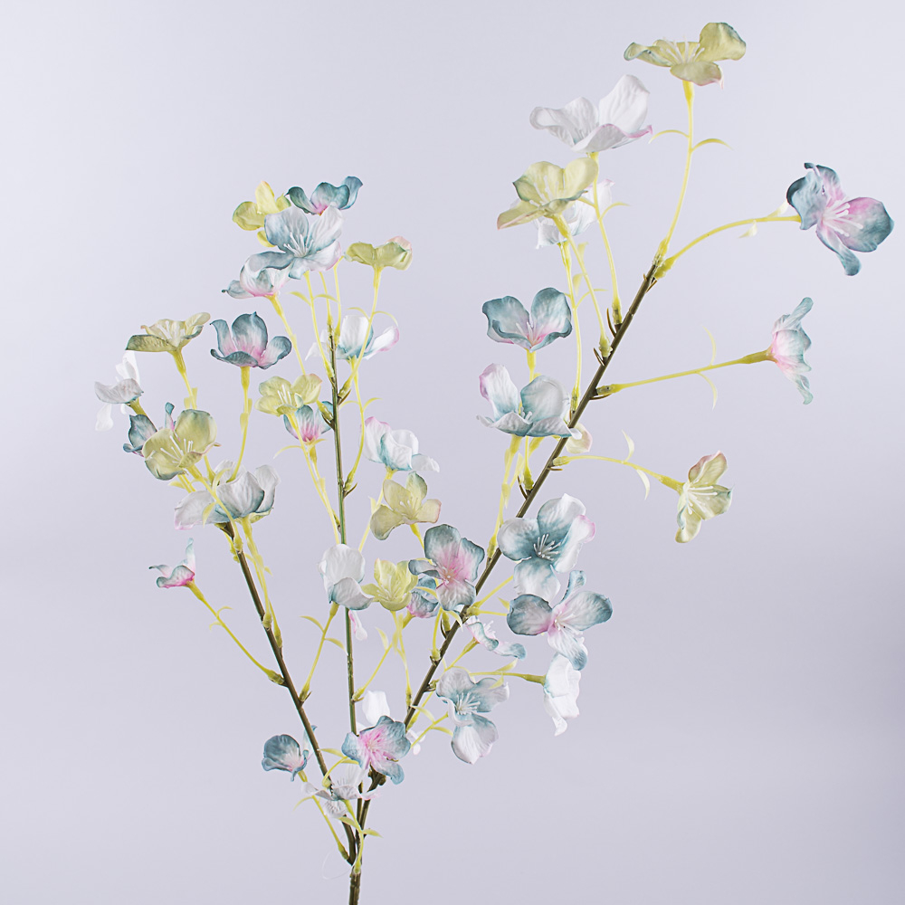 гілка з квітами (блакитна)