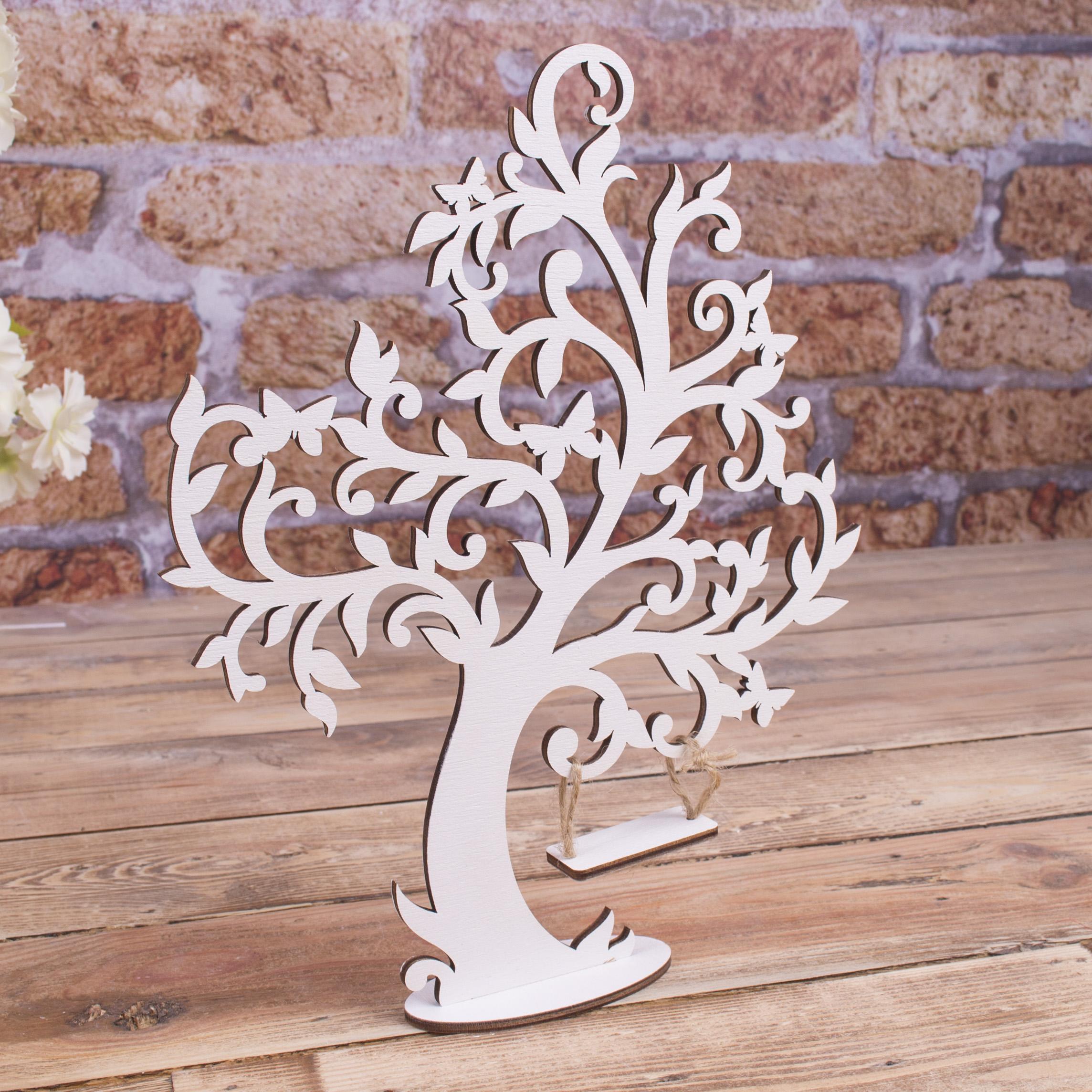 """декор - дерево белое """"качели"""""""