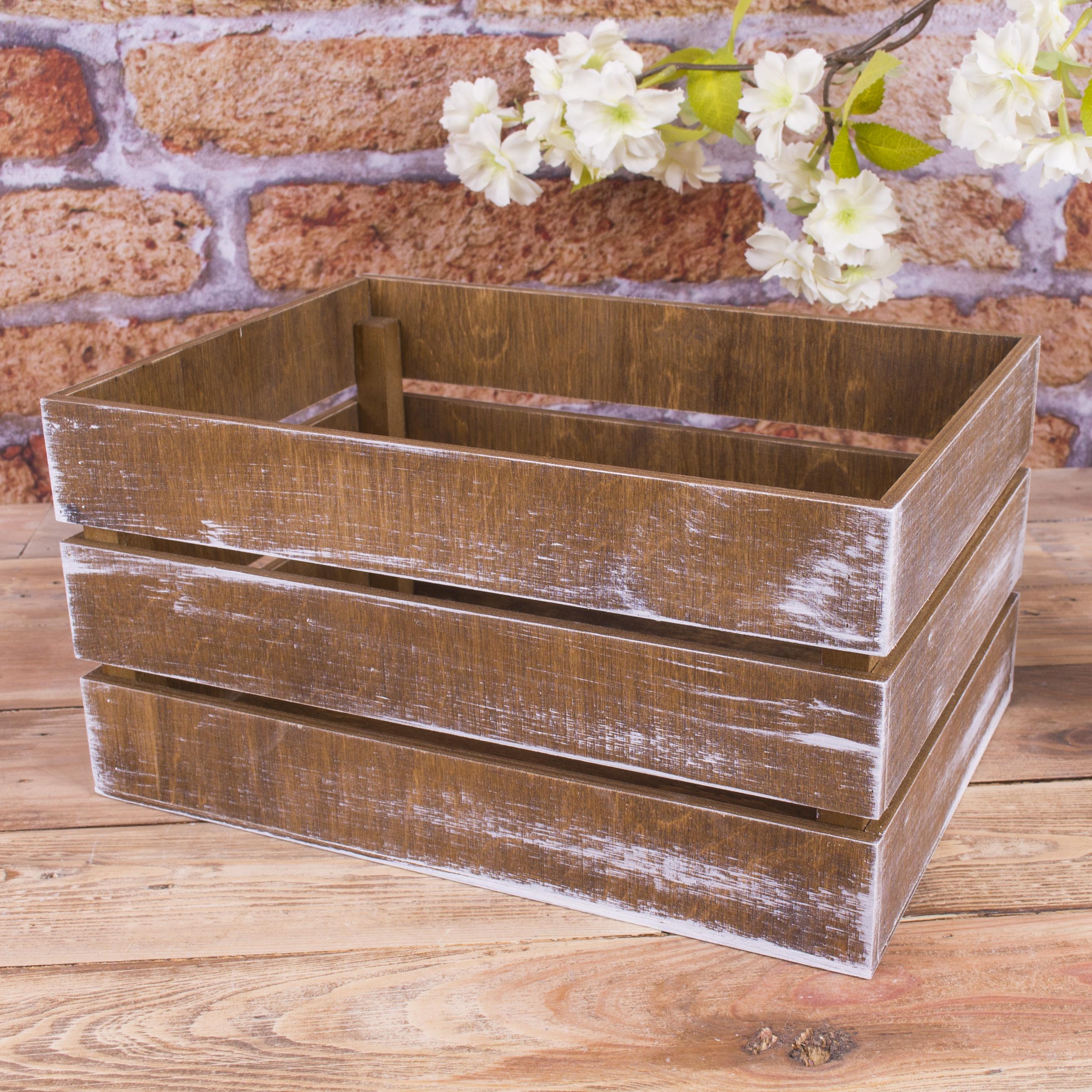"""ящик деревянный """"фруктовый"""" коричневый"""