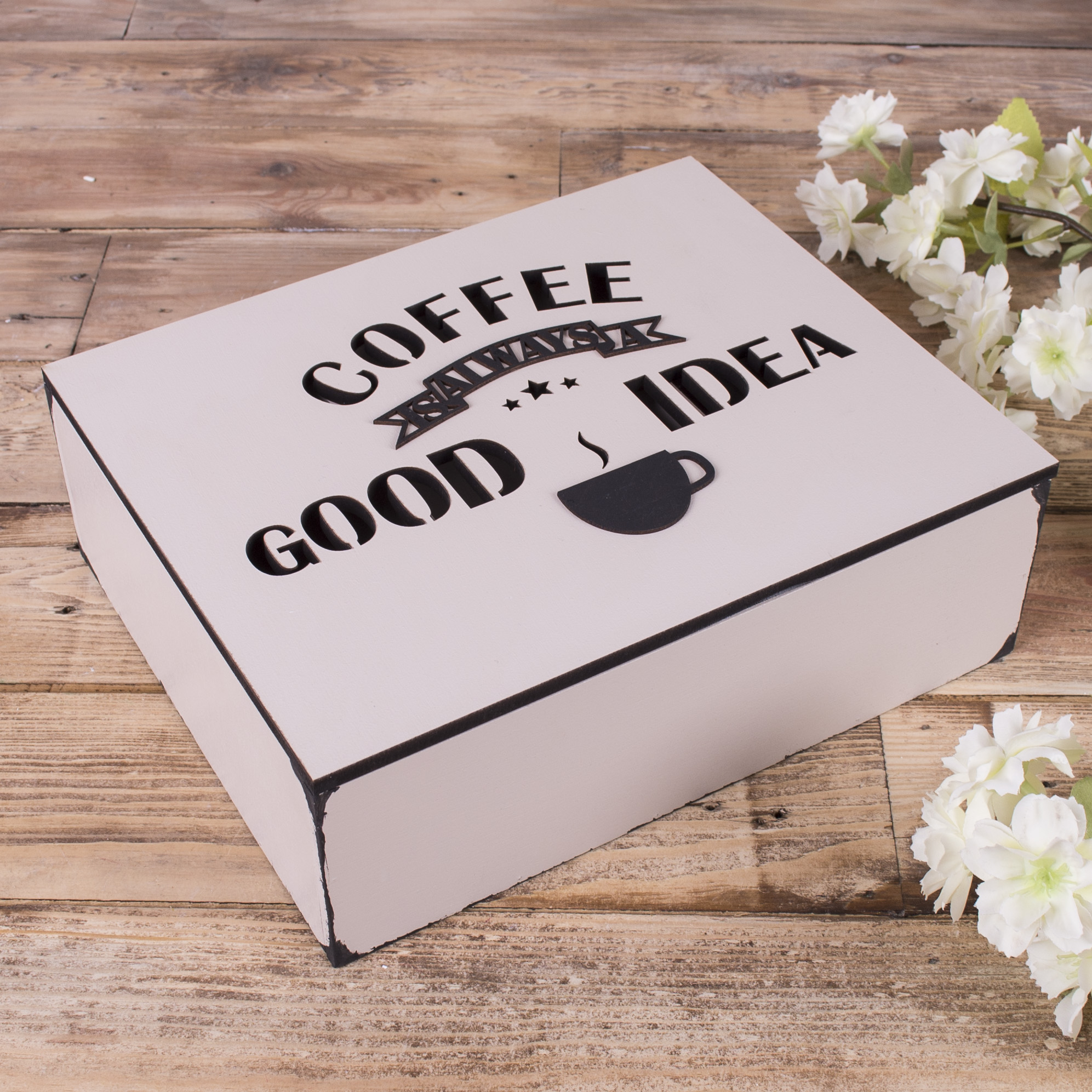 "Коробка ""coffee always a good idea"""