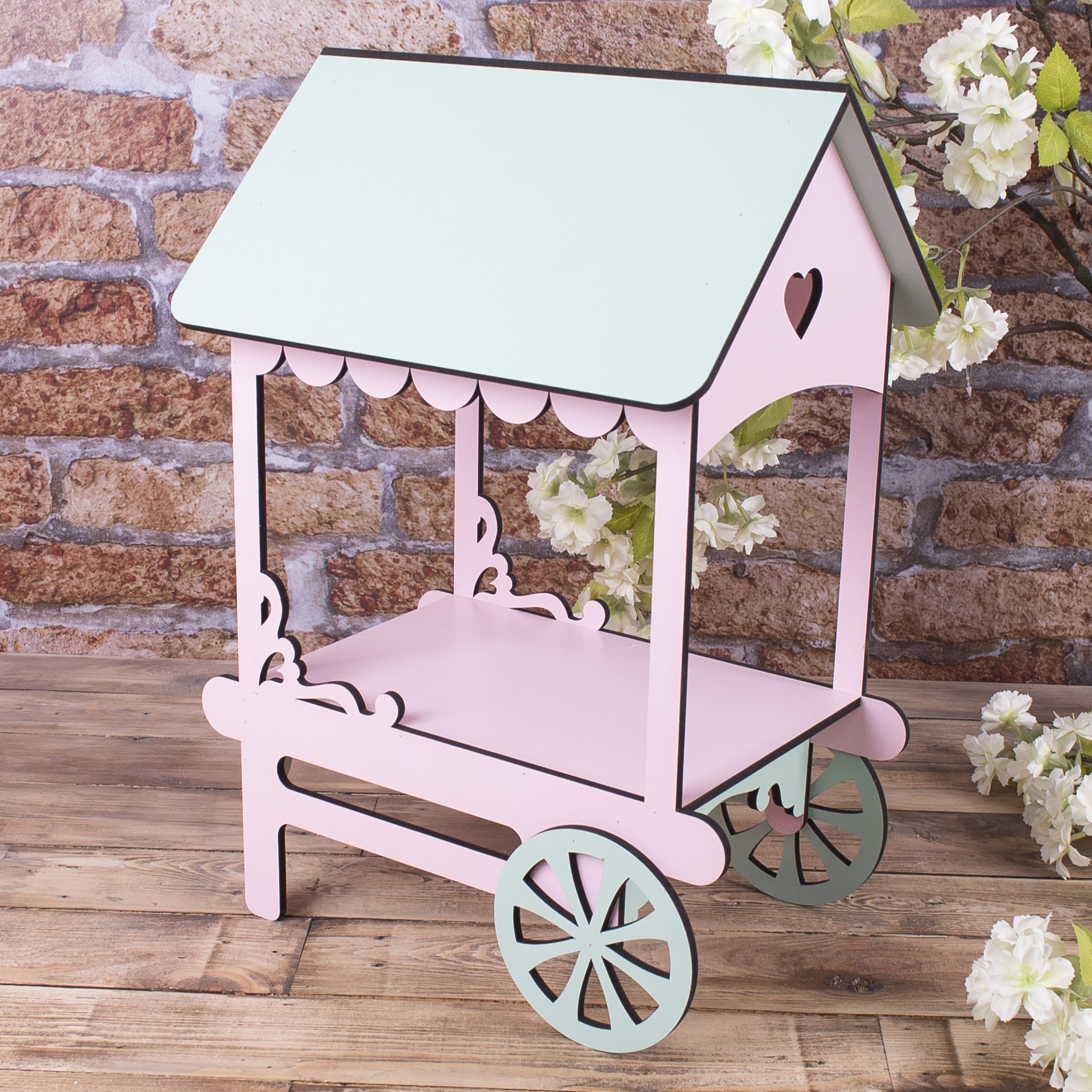 Подставка кендибар карета (салатово-розовая)