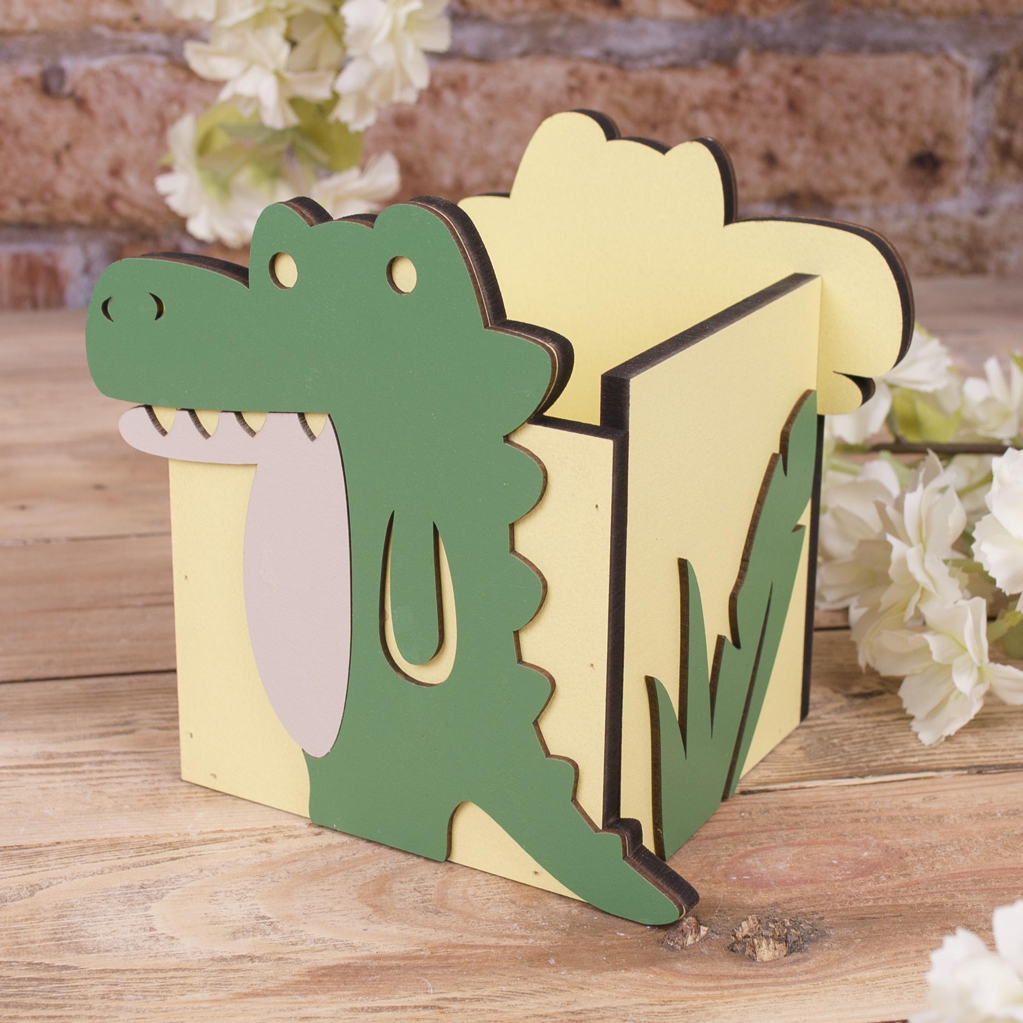 подставка под канцелярию одинарная (крокодил)