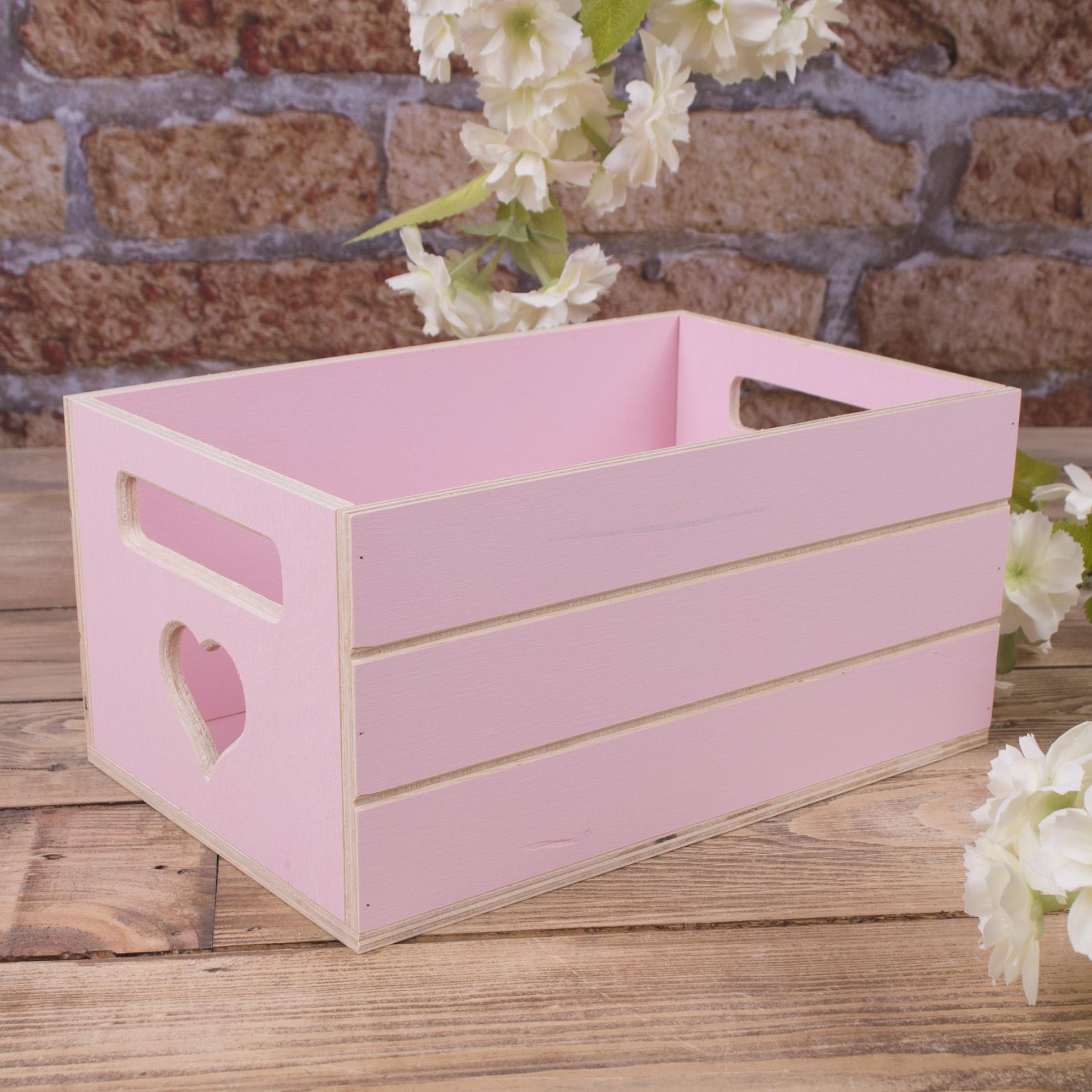 Ящик под цветы деревянный розовый