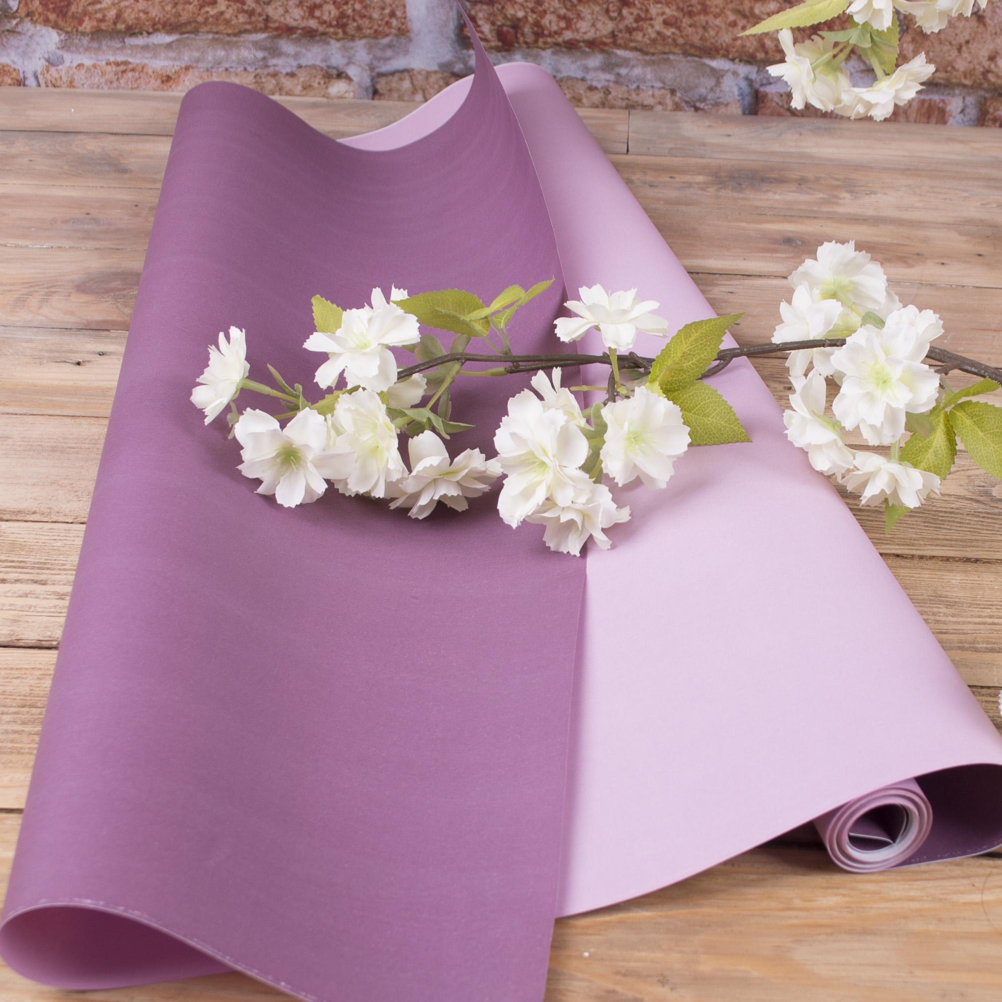 """папір флористичний двосторонній """"фіолетовий+ бузковий"""""""