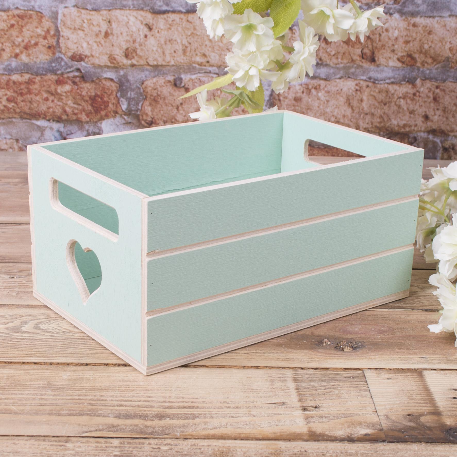 Ящик под цветы деревянный салатовый