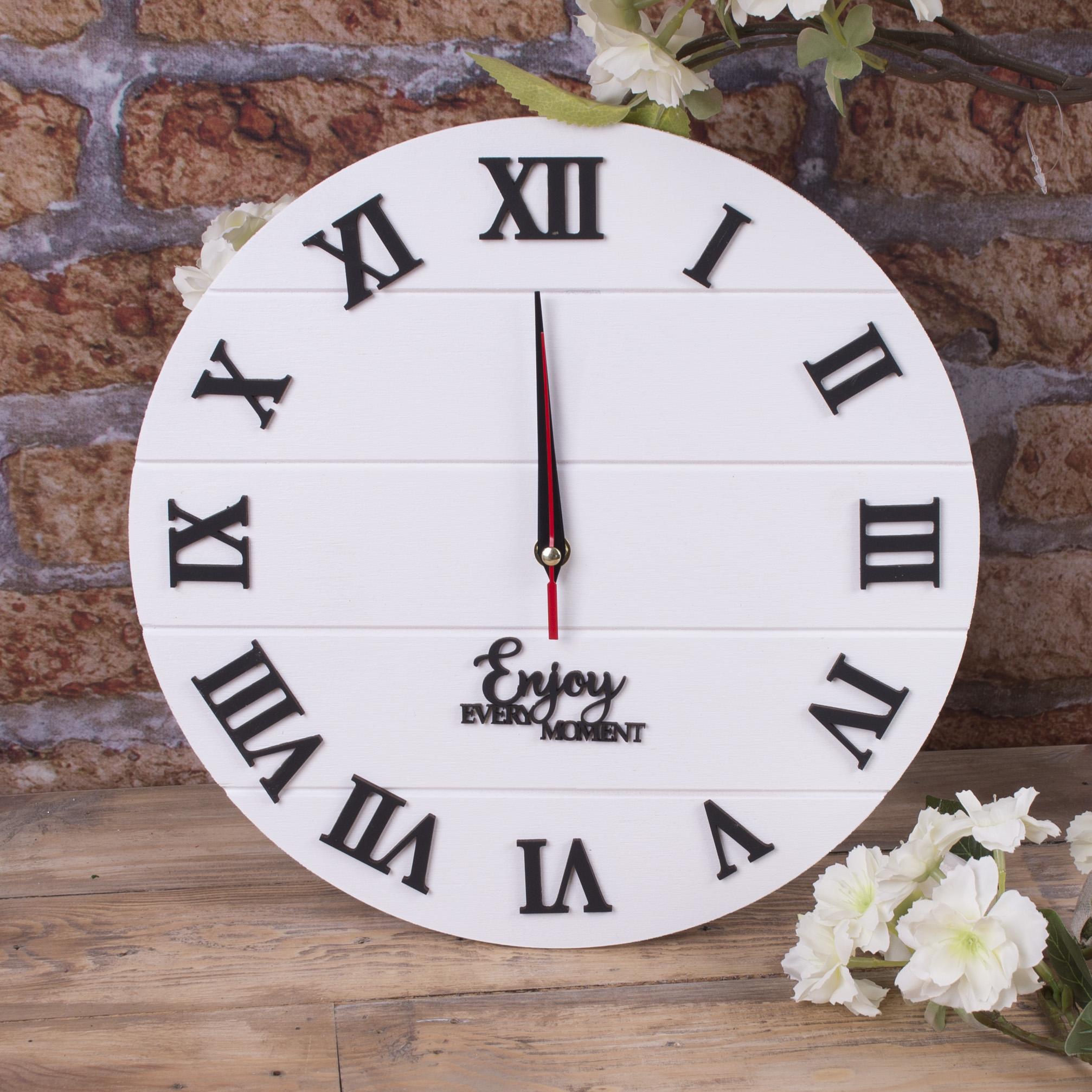 """Годинник настінний """"прованс"""" білий"""