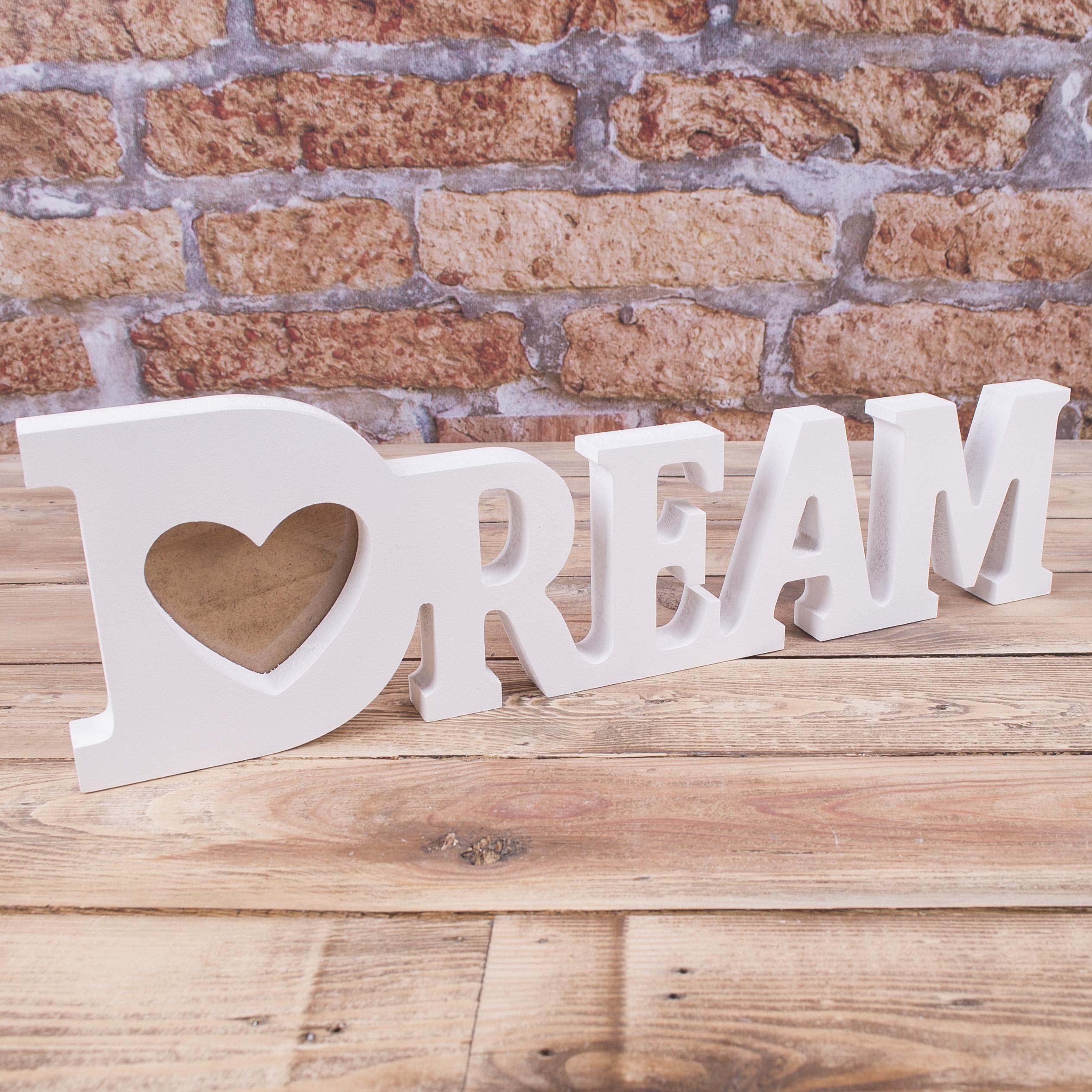 """Фоторамка слово """"Dream"""""""