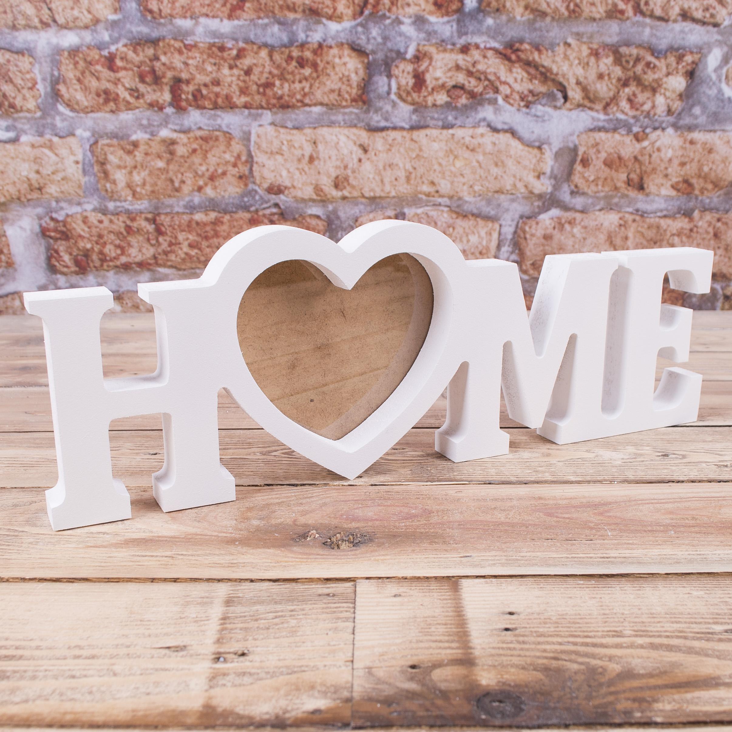 """Фоторамка слово """"Home"""""""
