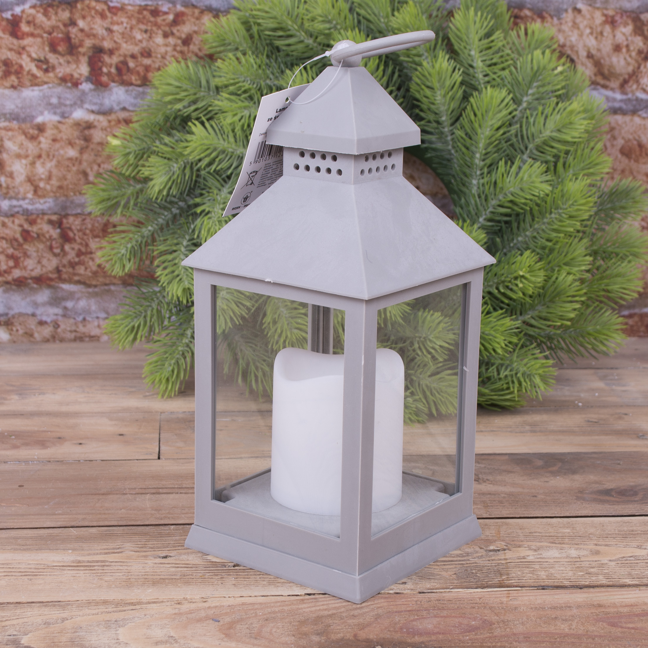Фонарь декоративный  со свечой LED