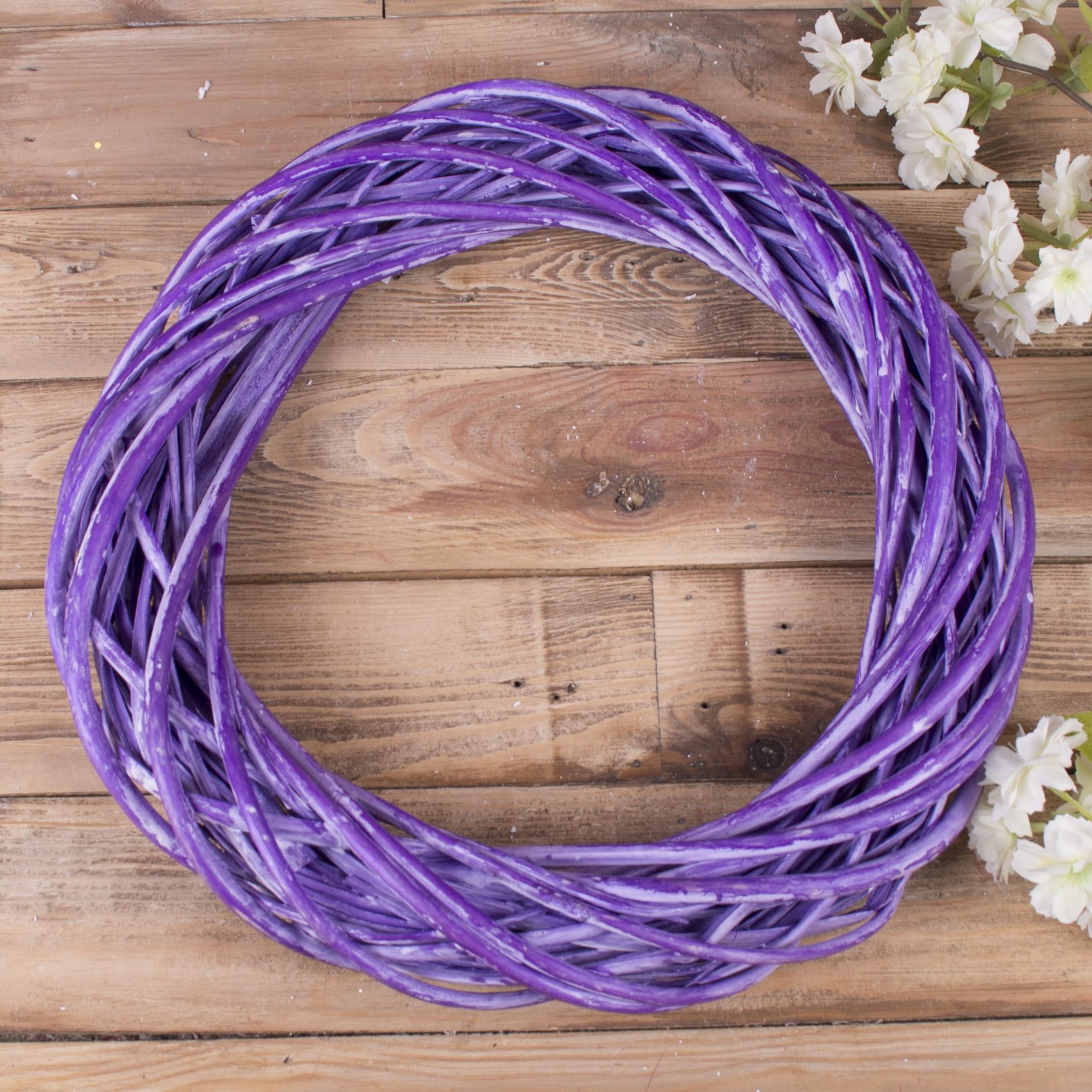 вінок з лози 40см фіолетовий