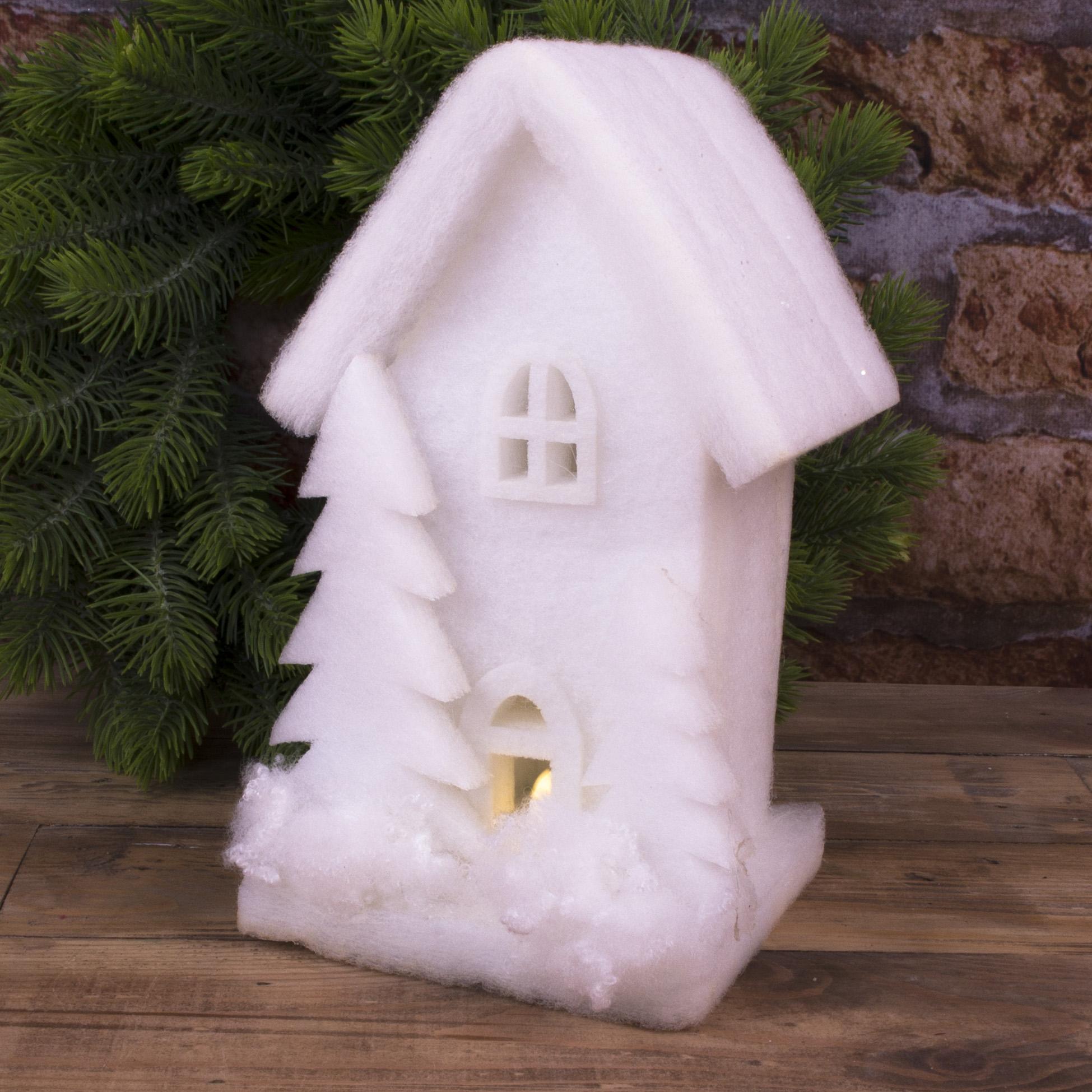 """статуэтка  флизелиновая с LED подсветкой """"белый дом"""" (24см)"""