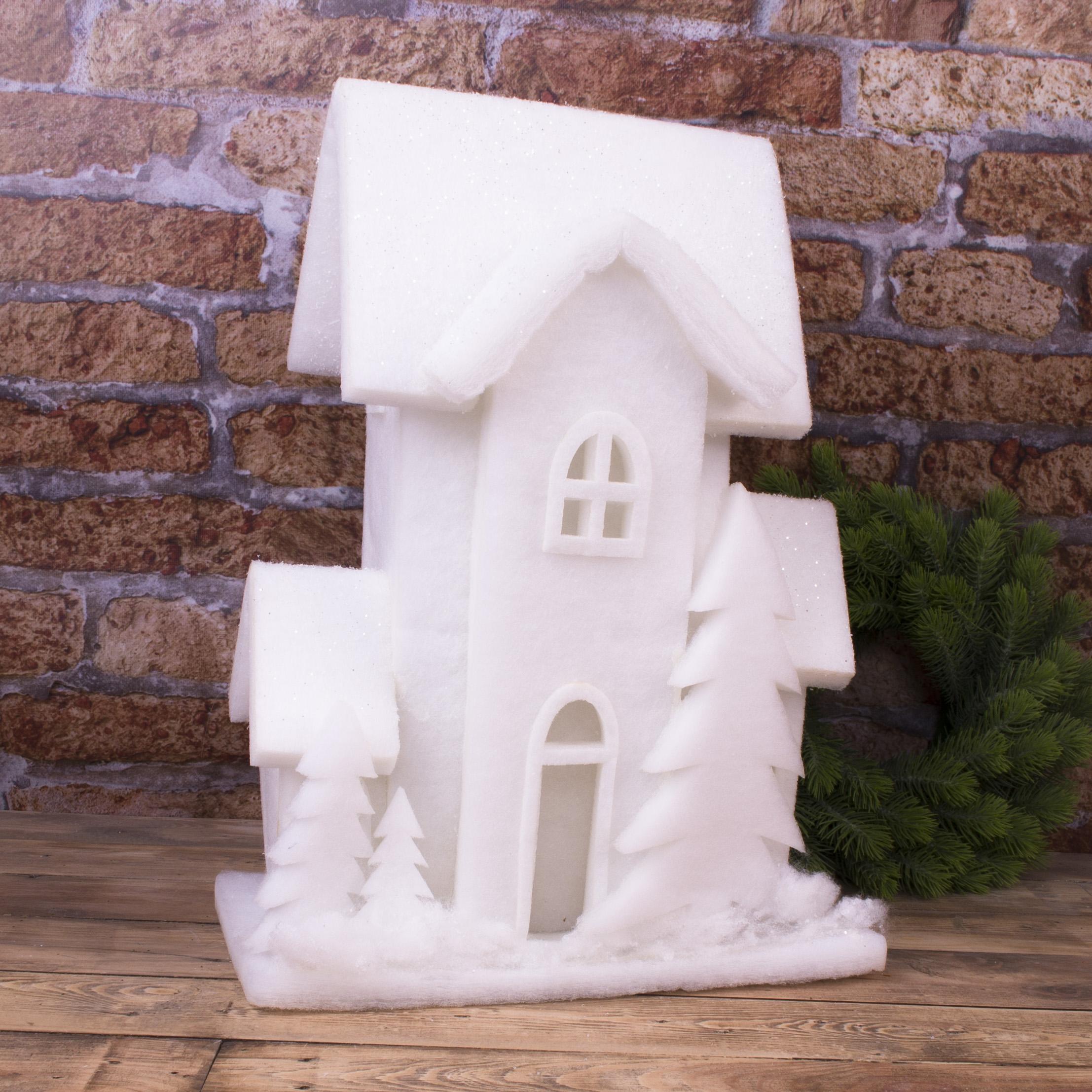 """статуэтка  флизелиновая с LED подсветкой """"белый дом"""" (50см)"""