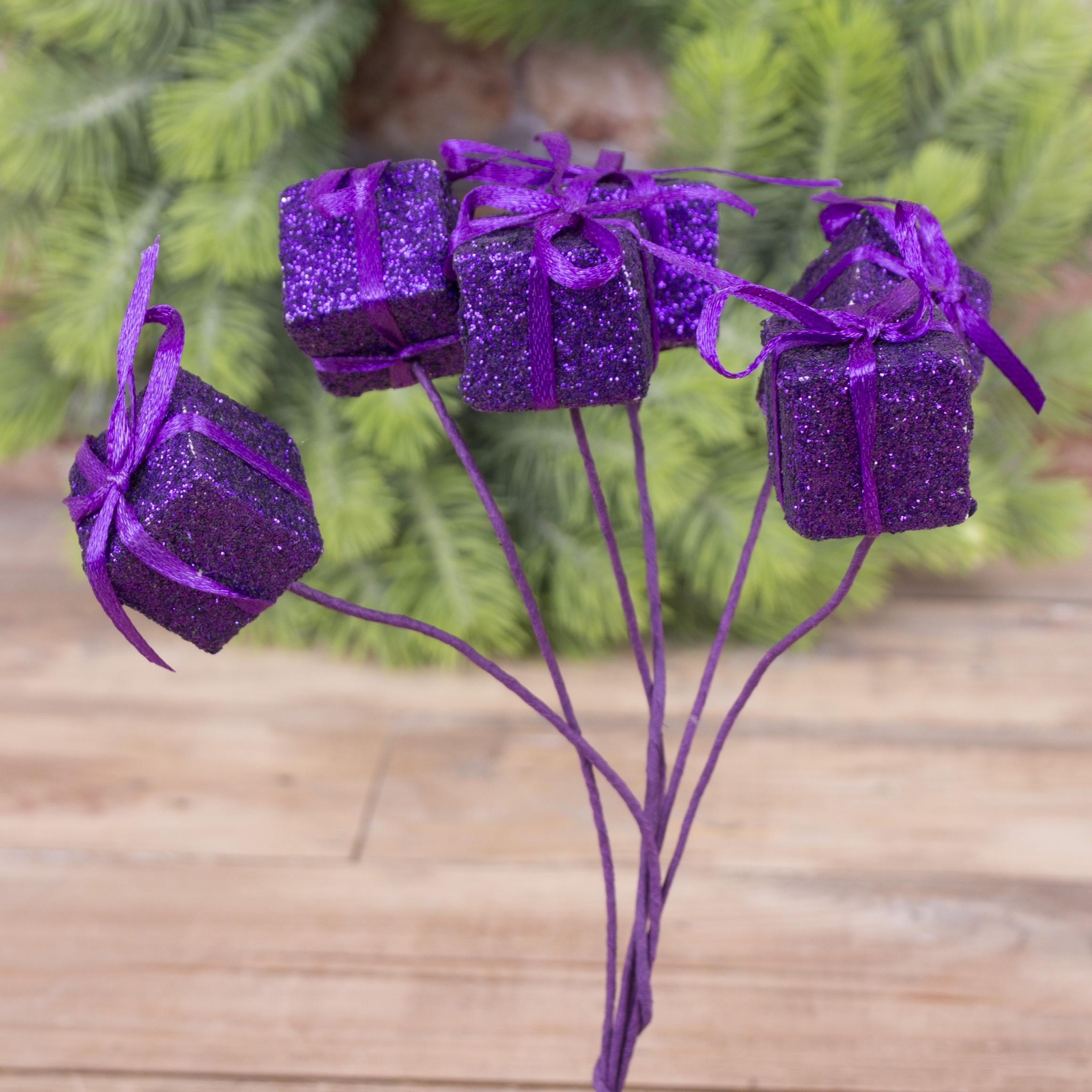 подарок на палочке фиолет