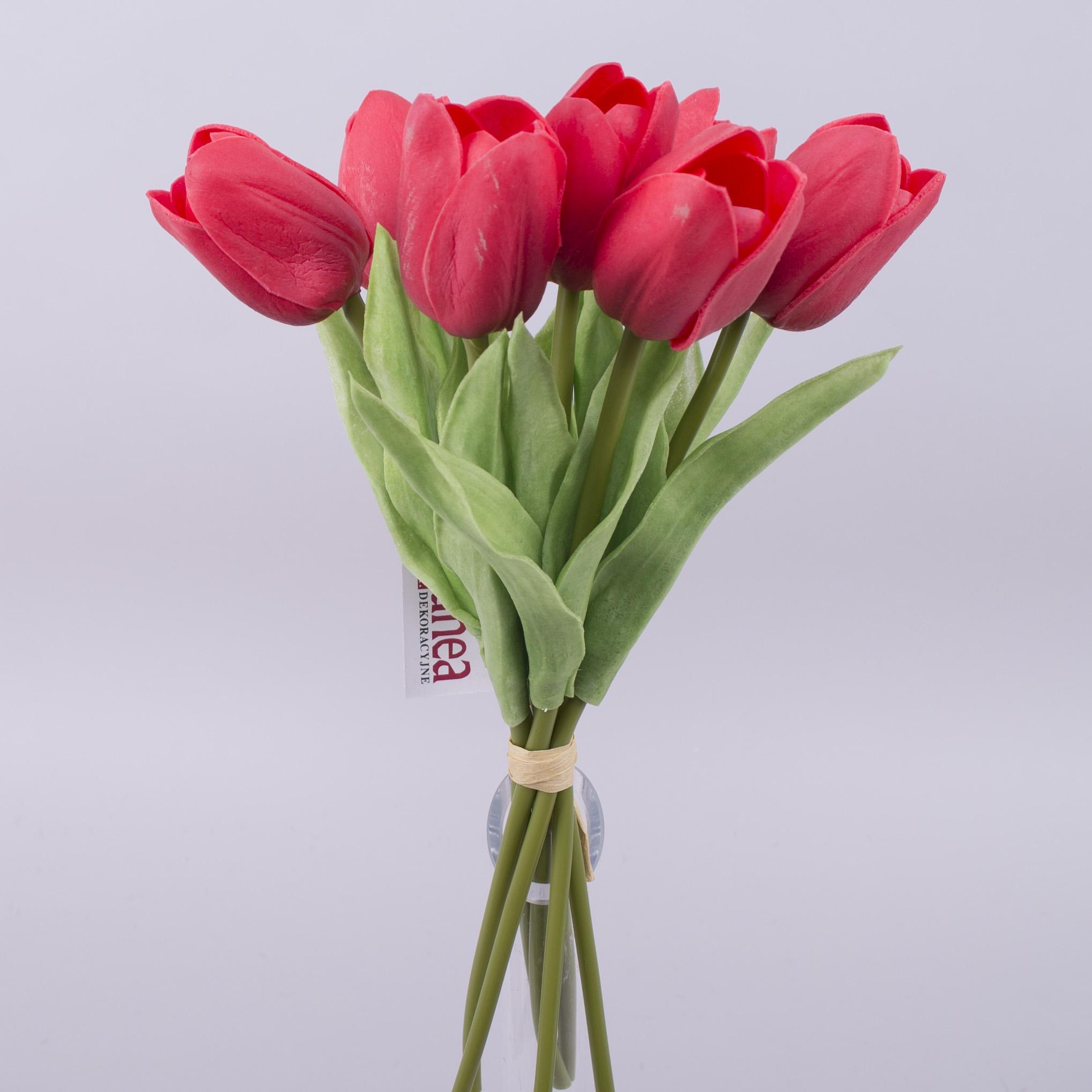 Тюльпан бутоном латексный  красный (7шт)