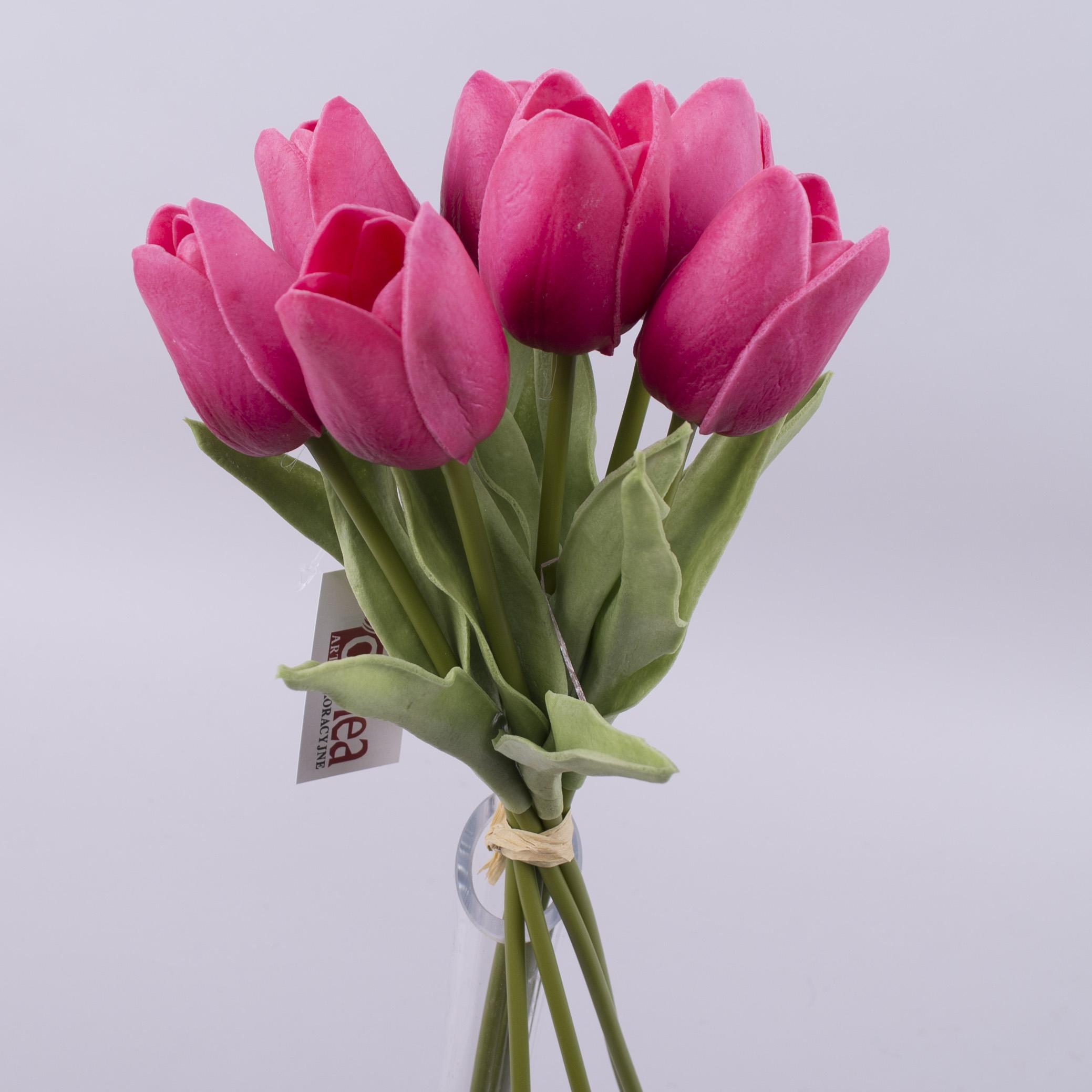 Тюльпан бутоном латексный  фуксия (7шт)
