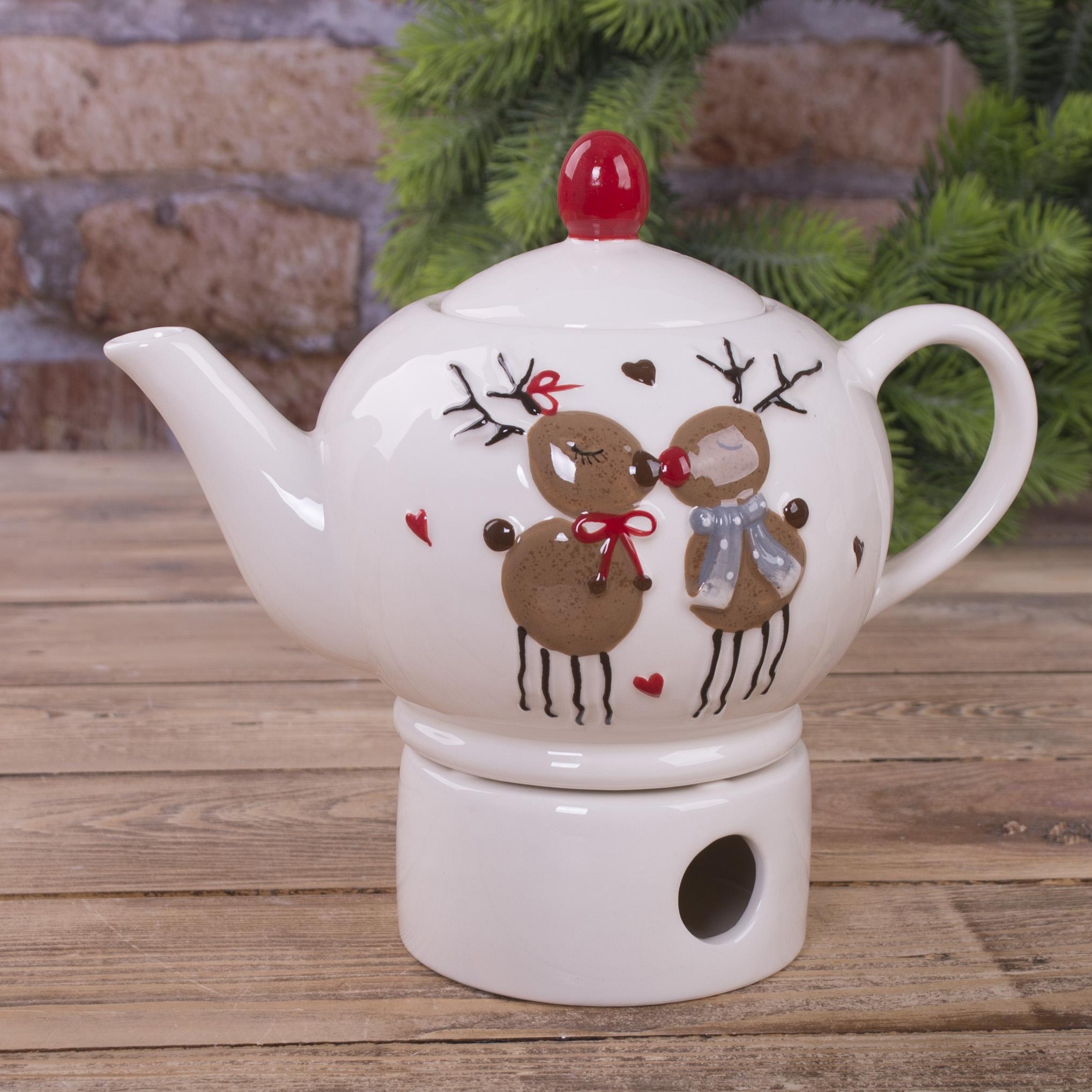 чайник с 2-мя оленями