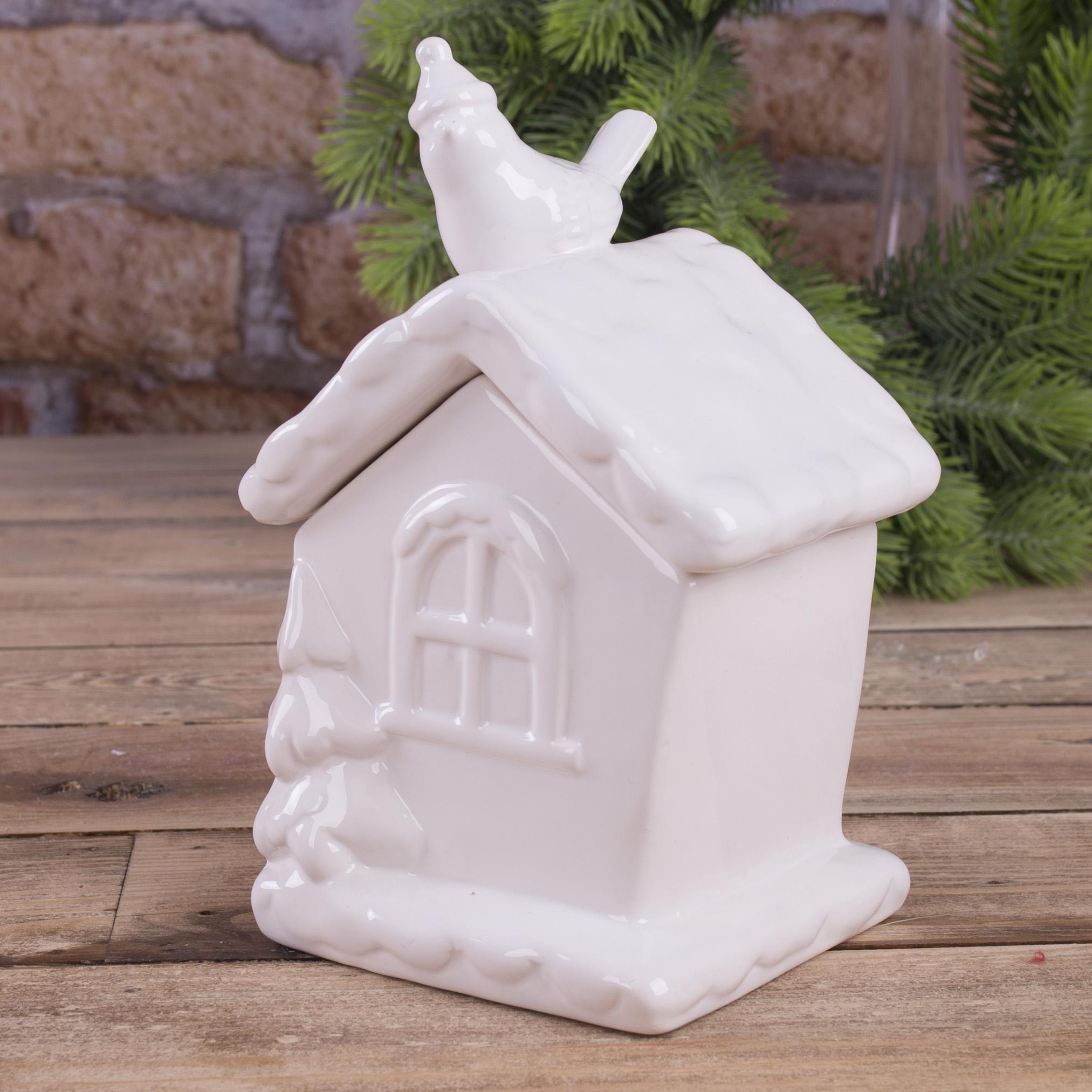 """Сахарница """"дом с белой птицей"""""""