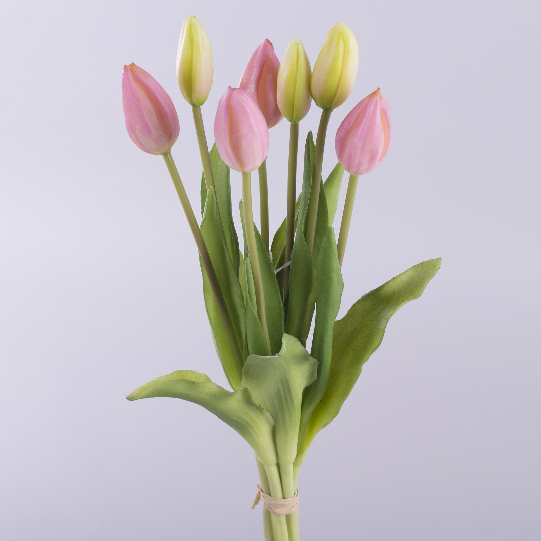 букет тюльпанов латекс на 7 бутонов (розовый)