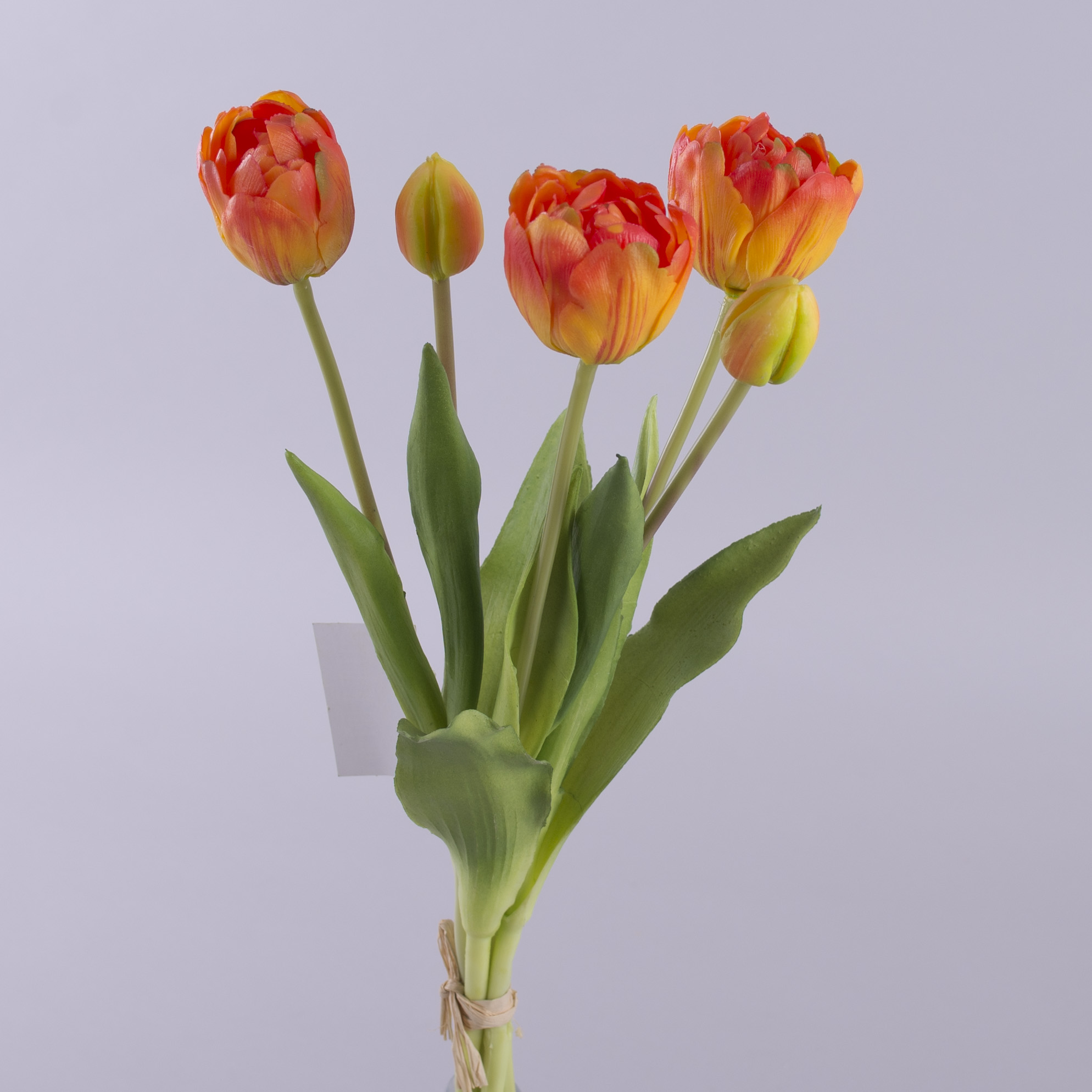 """букет тюльпан латексный """"кудрявый"""" желто-оранжевый"""