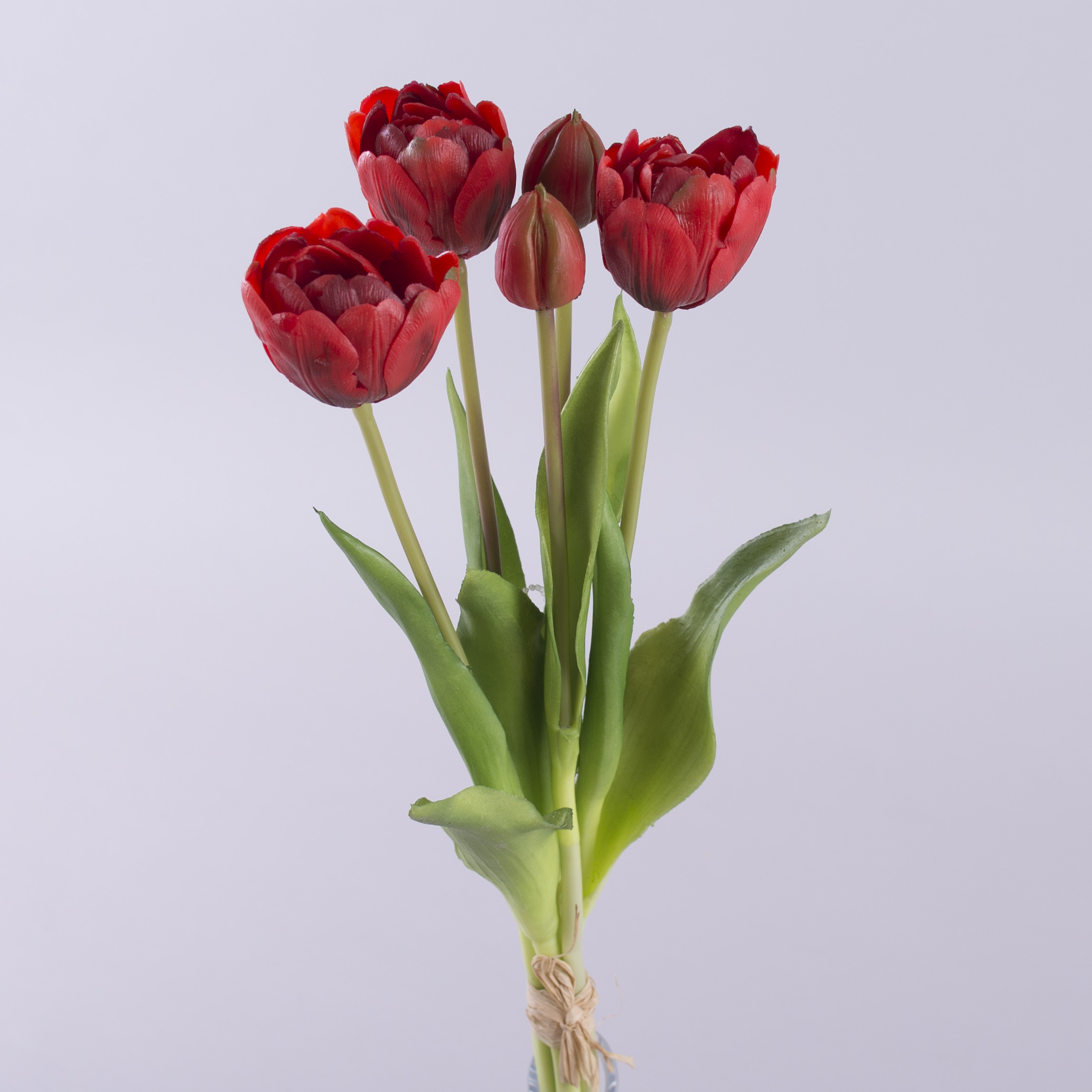 """букет тюльпан латексный """"кудрявый"""" красный"""