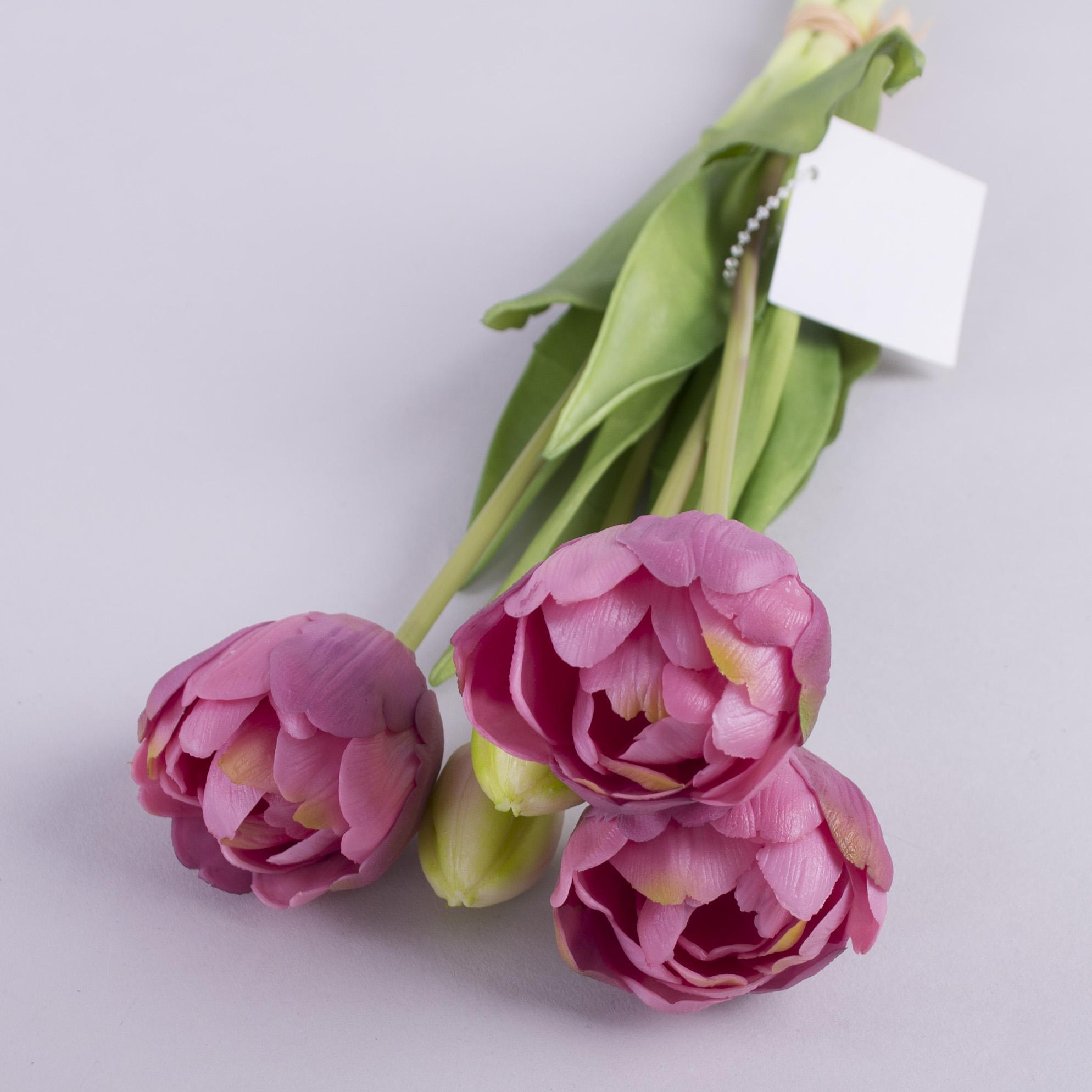"""букет тюльпан латексный """"кудрявый"""" фиолетовый"""