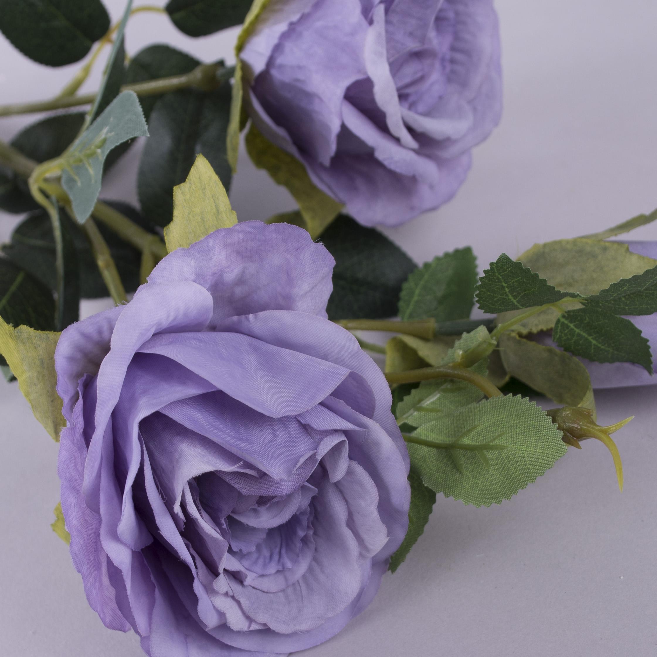"Роза ""мятая"" тройная премиум сиреневая"
