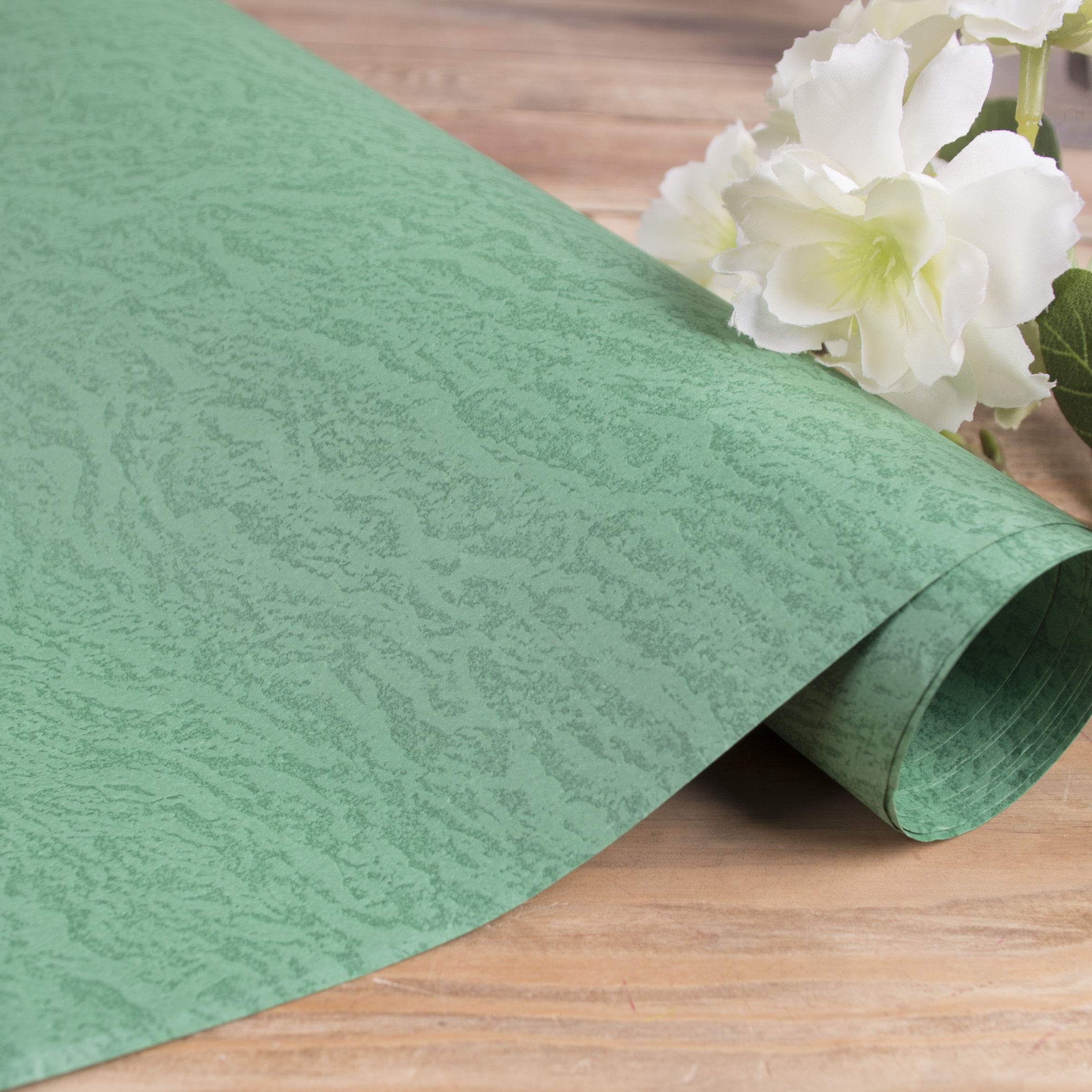 бумага фактурная с тиснением (светло зеленая)
