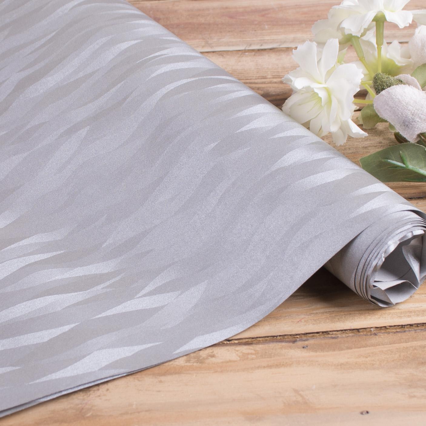 бумага фактурная с тиснением (серебро в волну)