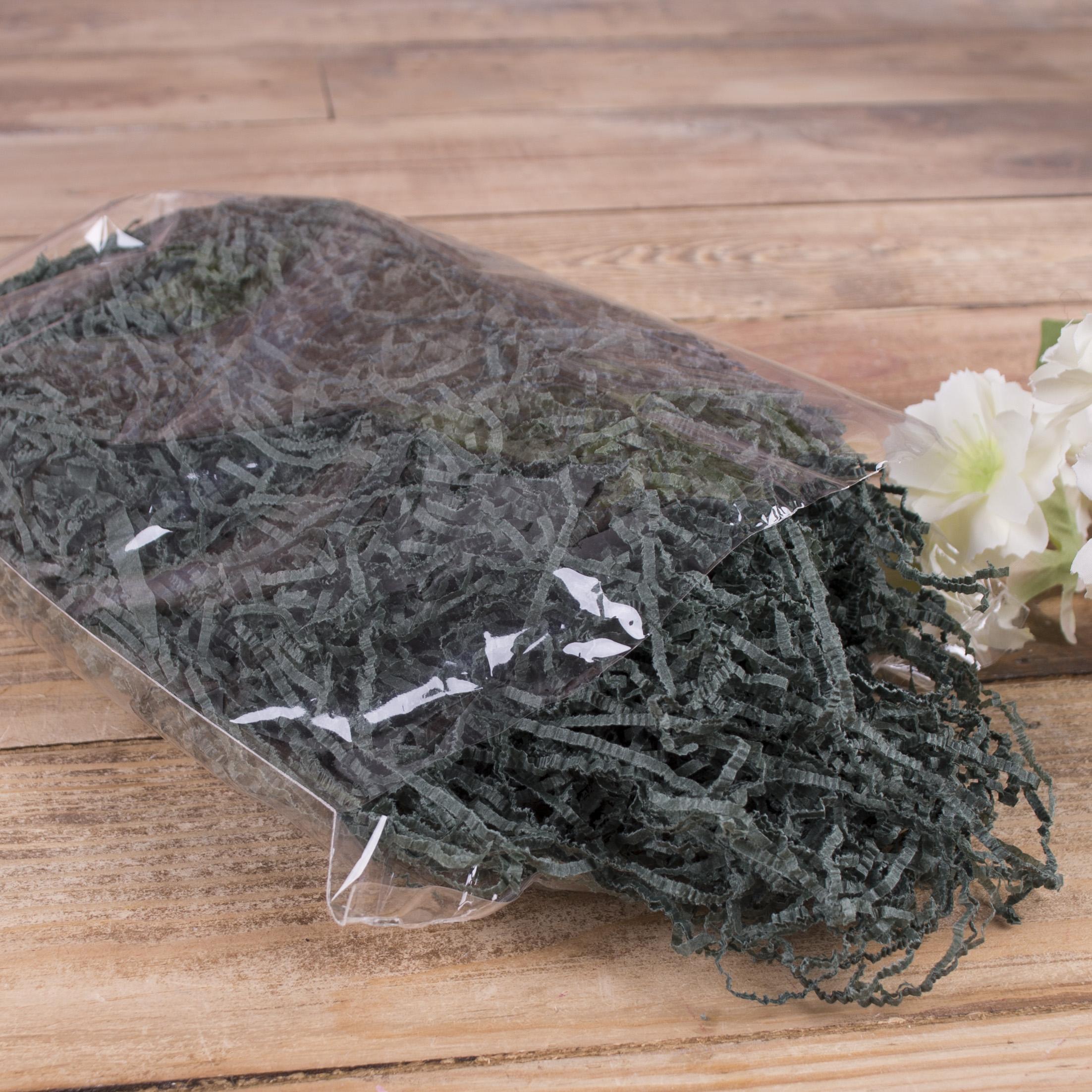 """наполнитель""""тишью""""  темно зеленый (50 грм)"""