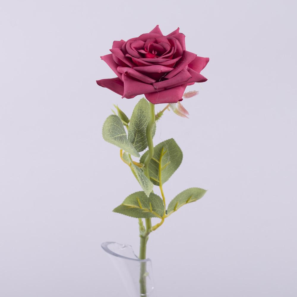 роза одинарная с острыми лепестками (малиновая)