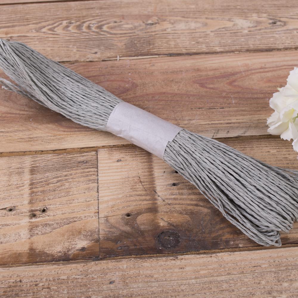 шнурок для декора серый