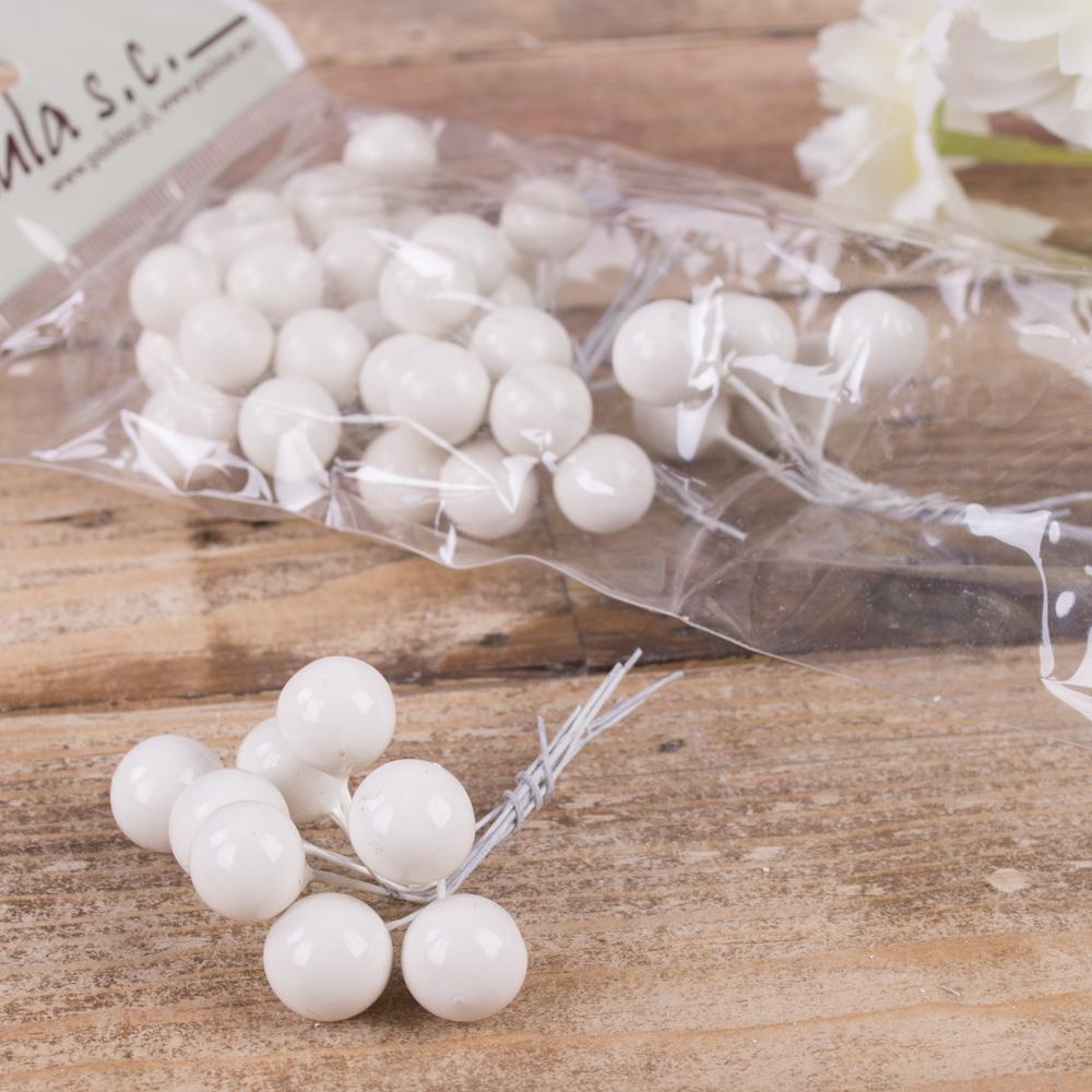 пучок шарики перламутровые белые