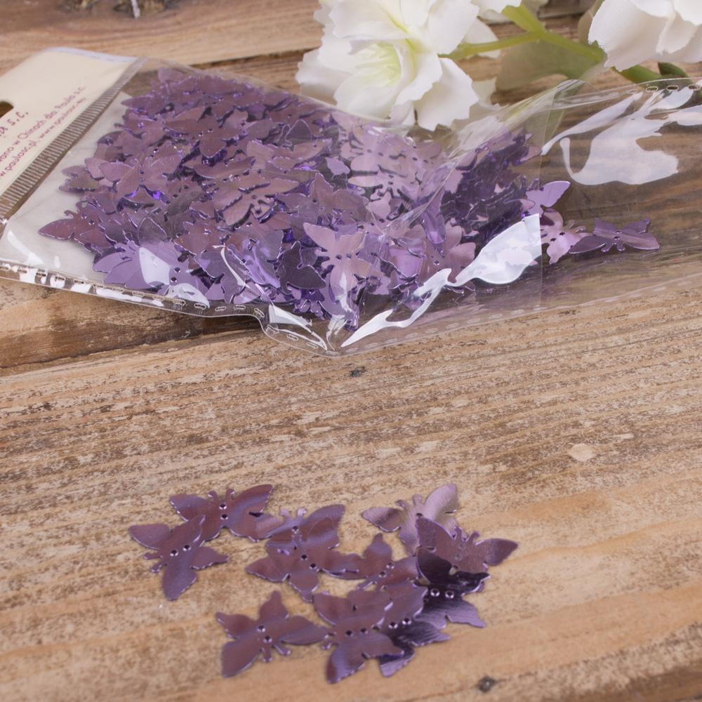"""пайетки """"перламутровые бабочки"""" фиолетовые"""