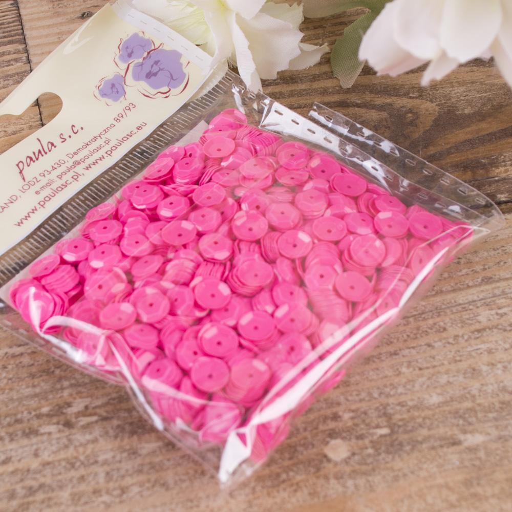 пайетка круглая ярко розовые