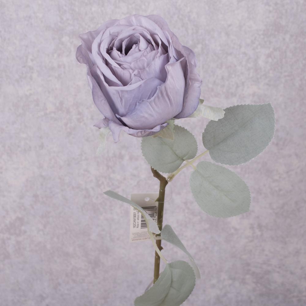 роза с голубым листиком (сиреневая)