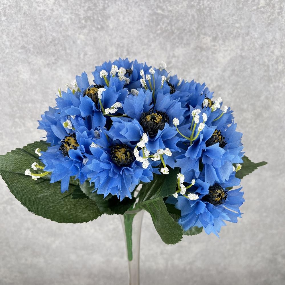 букет василек (голубой)