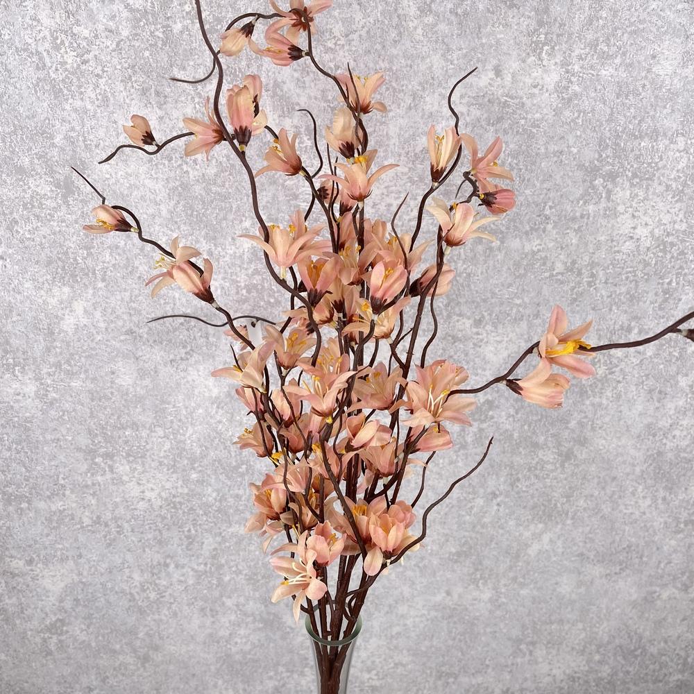 Букет форзиция персиково-розовая