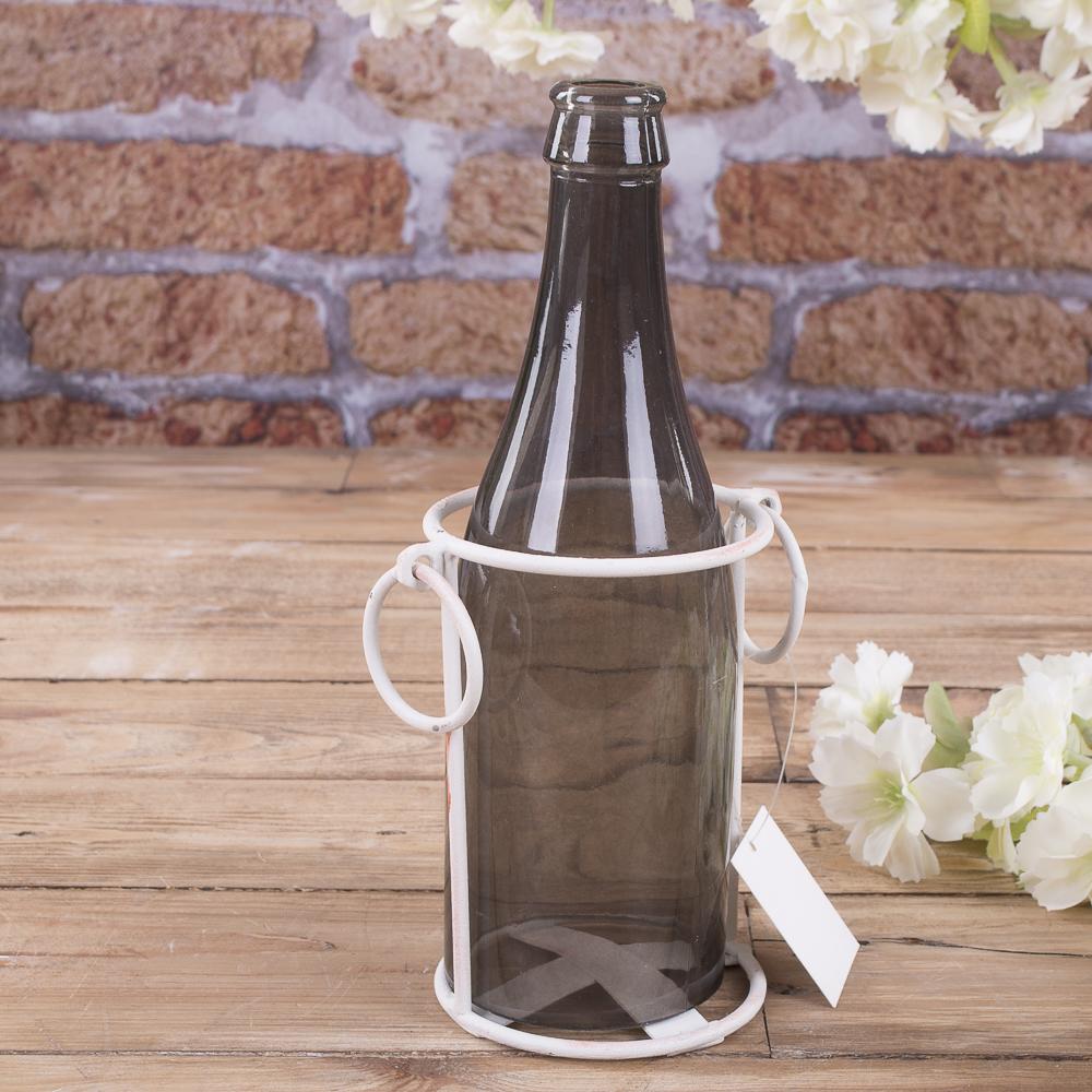Бутылка-ваза в металическом кашпо