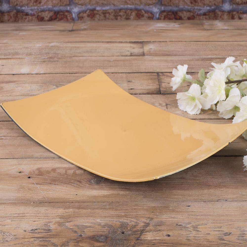 тарелка пластиковая  прямоугольная  (горчица)