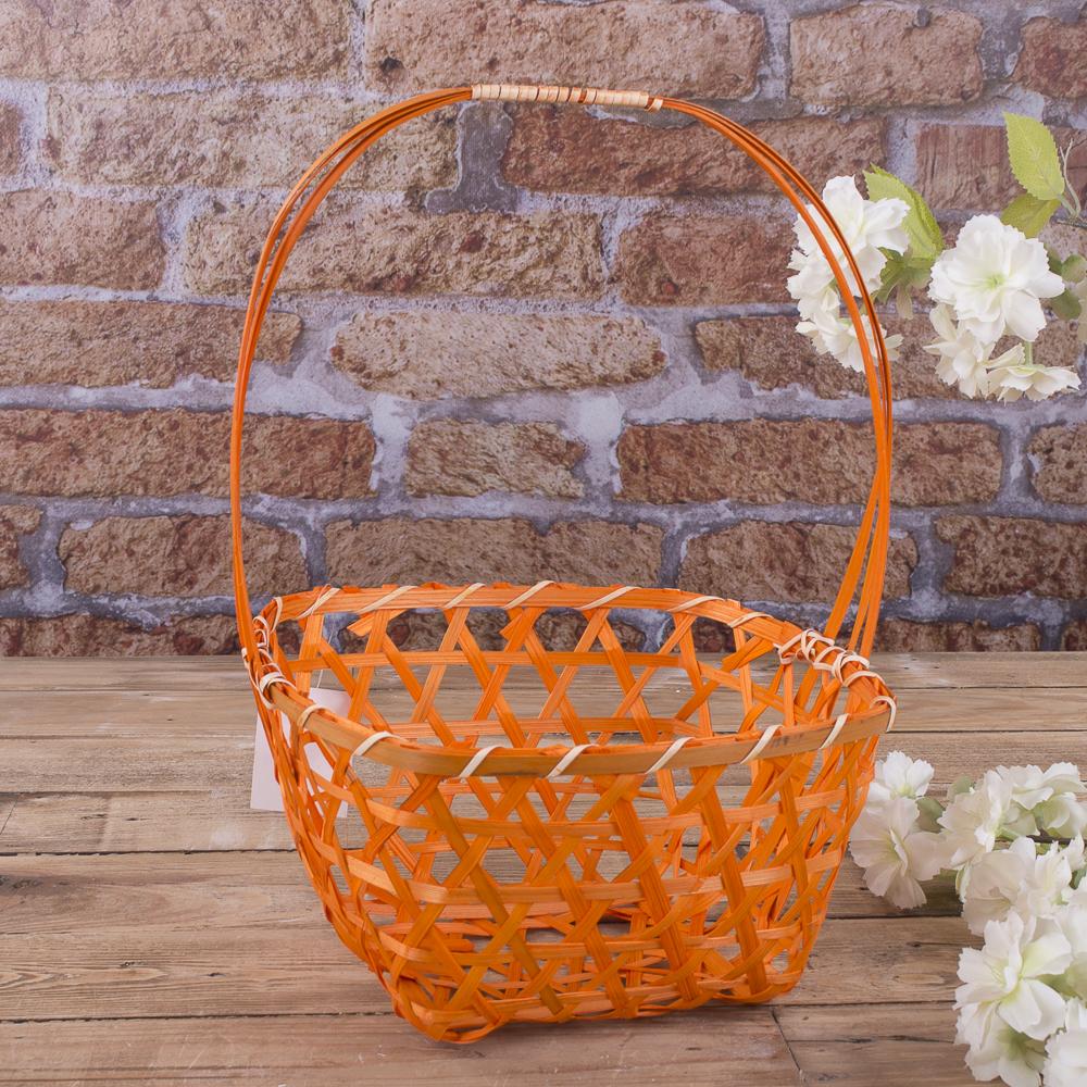 корзина декоративная (оранжевая)