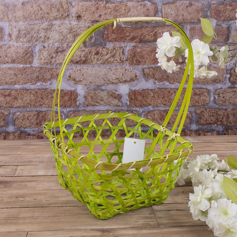 корзина декоративная (зеленая)
